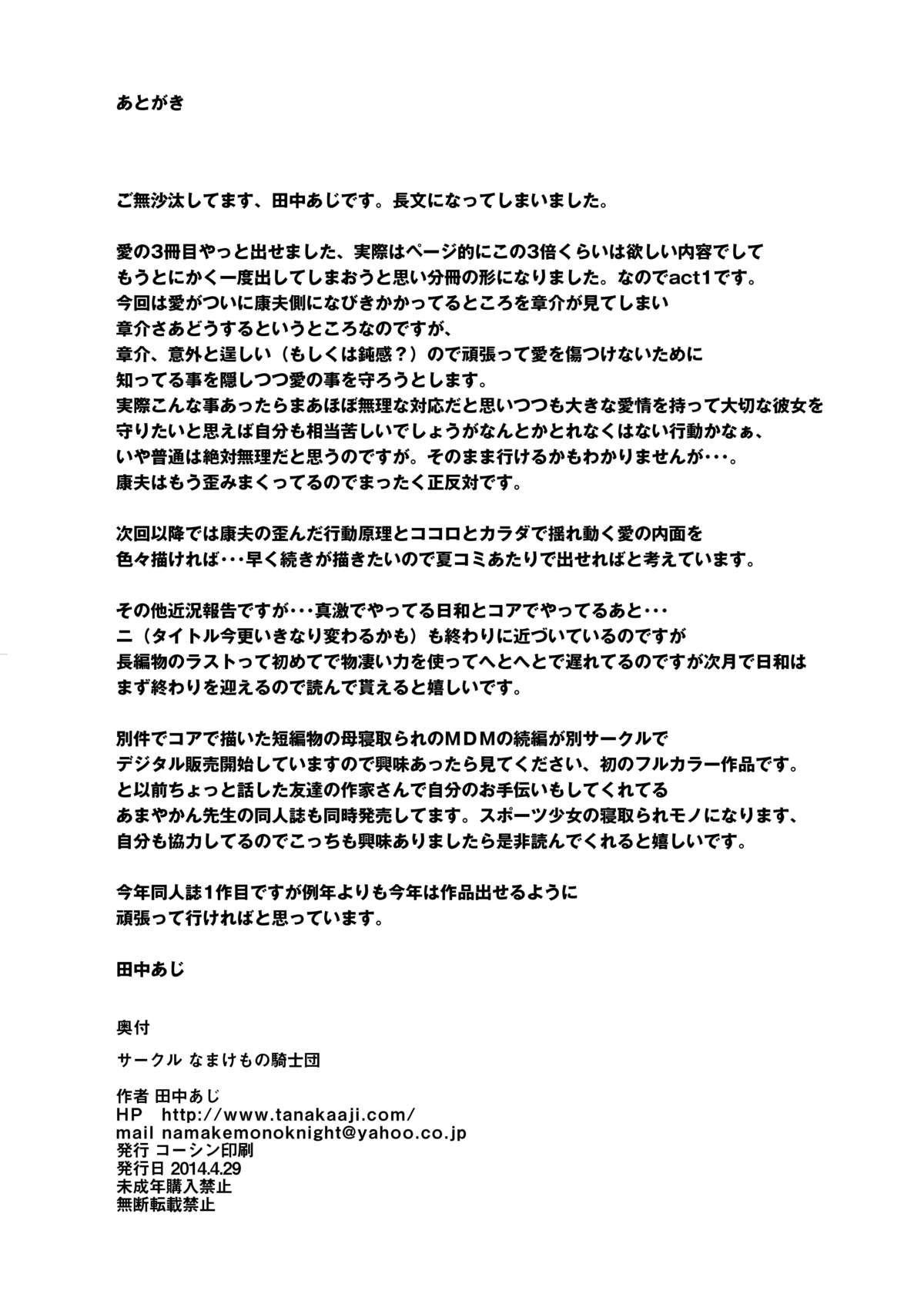 Unsweet Inoue Ai Watashi wa Dare wo Aishiteru no... Daisuki na Koibito... Soretomo Aitsu... act 1 36