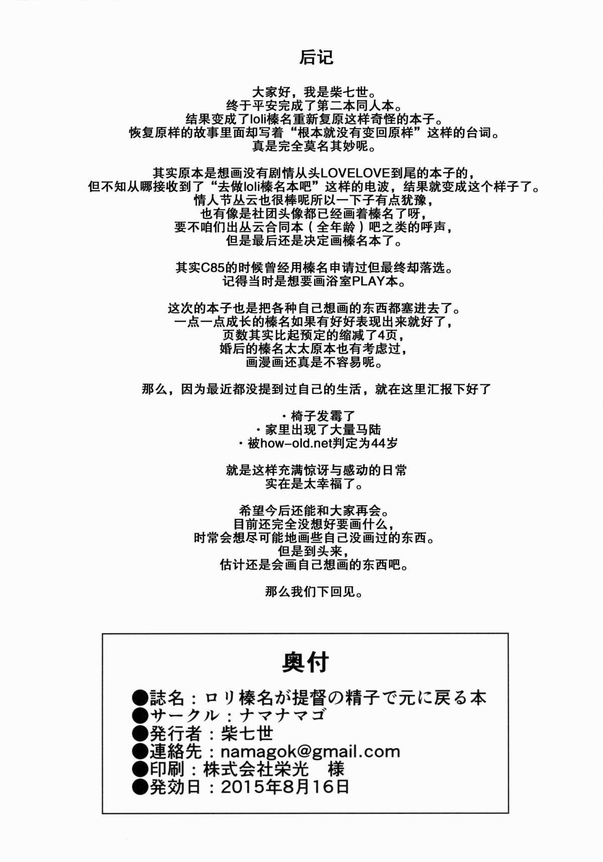 Loli Haruna ga Teitoku no Seieki de Moto ni Modoru Hon 24