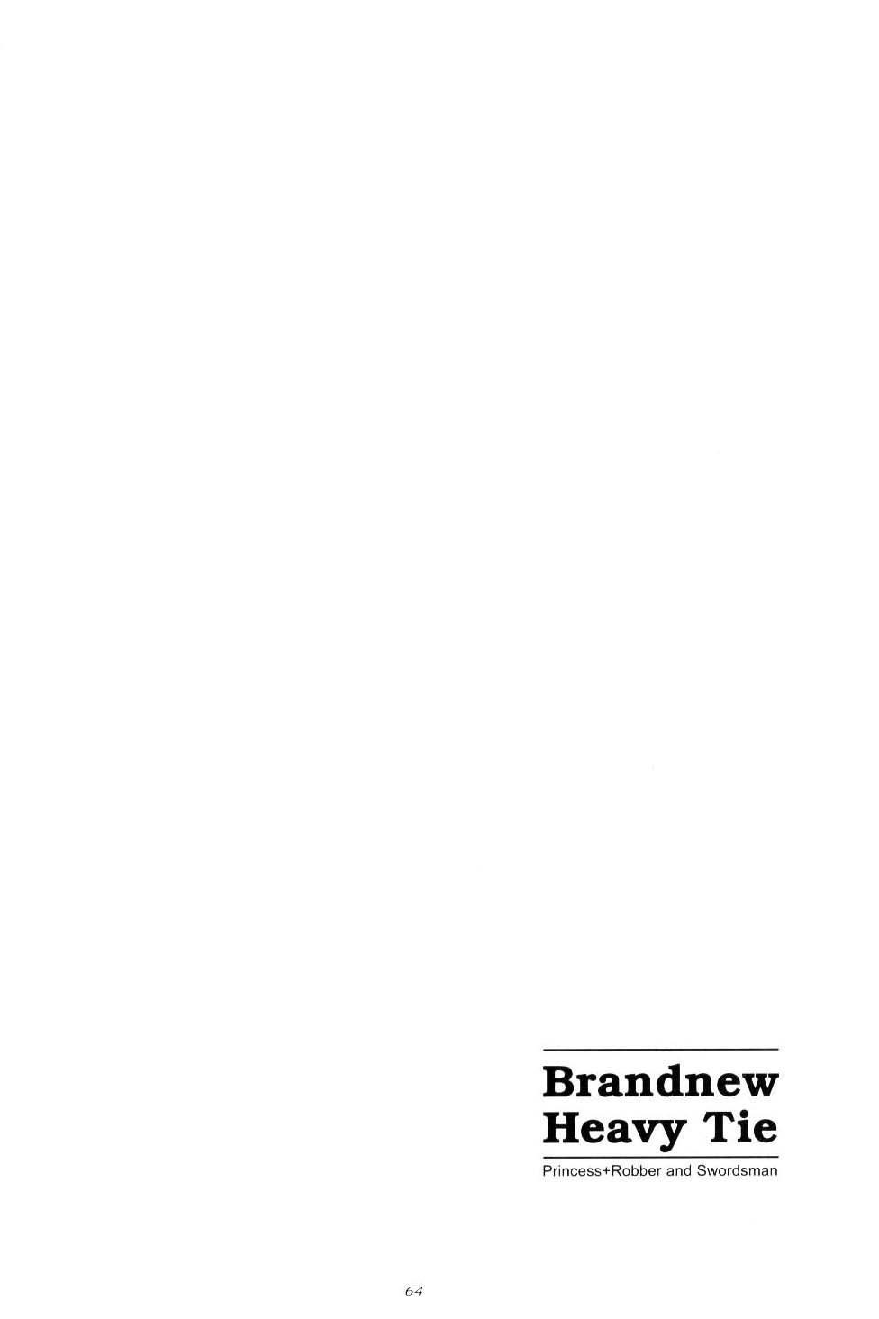 Brandnew Heavy Tie 61
