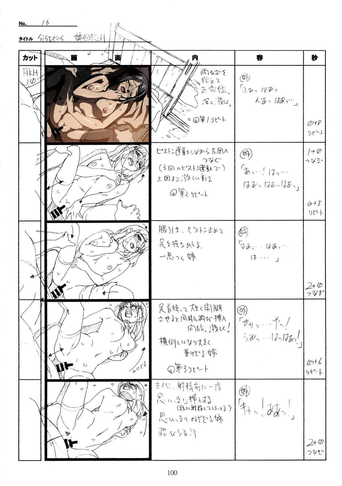 (C89) [Makino Jimusho (Taki Minashika)] SISTERS -Natsu no Saigo no Hi- H Scene All Part Storyboard (SISTERS -Natsu no Saigo no Hi-) 99