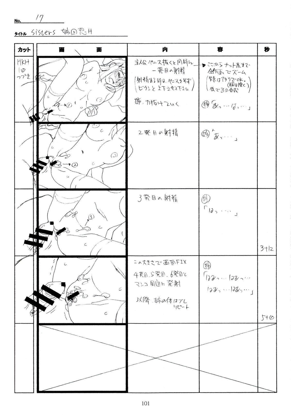 (C89) [Makino Jimusho (Taki Minashika)] SISTERS -Natsu no Saigo no Hi- H Scene All Part Storyboard (SISTERS -Natsu no Saigo no Hi-) 100