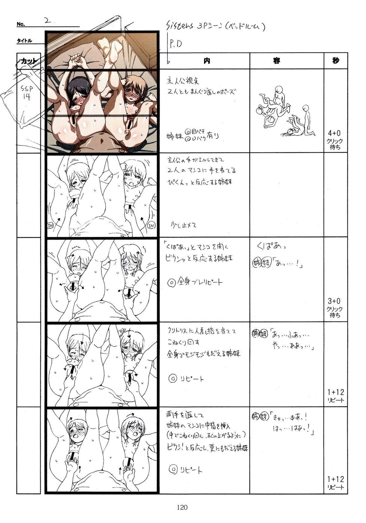 (C89) [Makino Jimusho (Taki Minashika)] SISTERS -Natsu no Saigo no Hi- H Scene All Part Storyboard (SISTERS -Natsu no Saigo no Hi-) 119