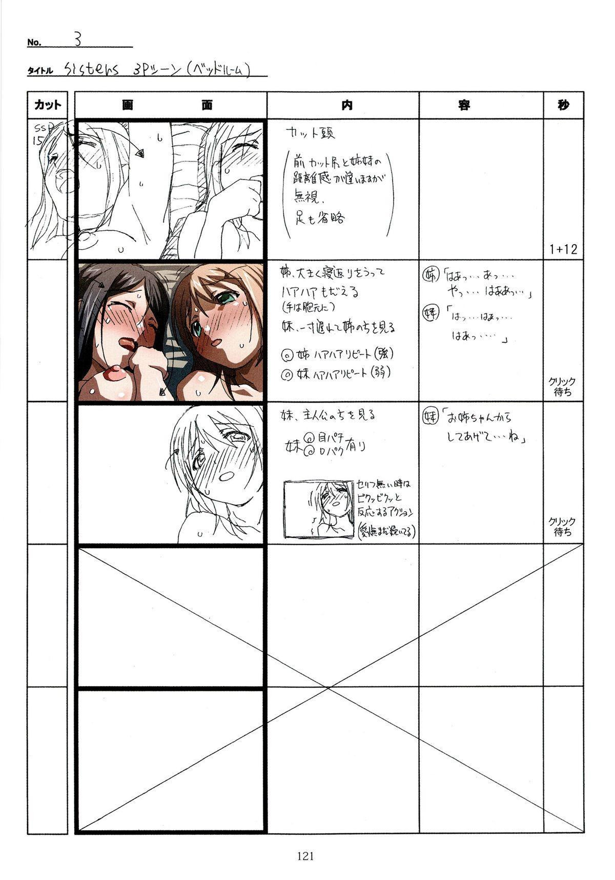 (C89) [Makino Jimusho (Taki Minashika)] SISTERS -Natsu no Saigo no Hi- H Scene All Part Storyboard (SISTERS -Natsu no Saigo no Hi-) 120