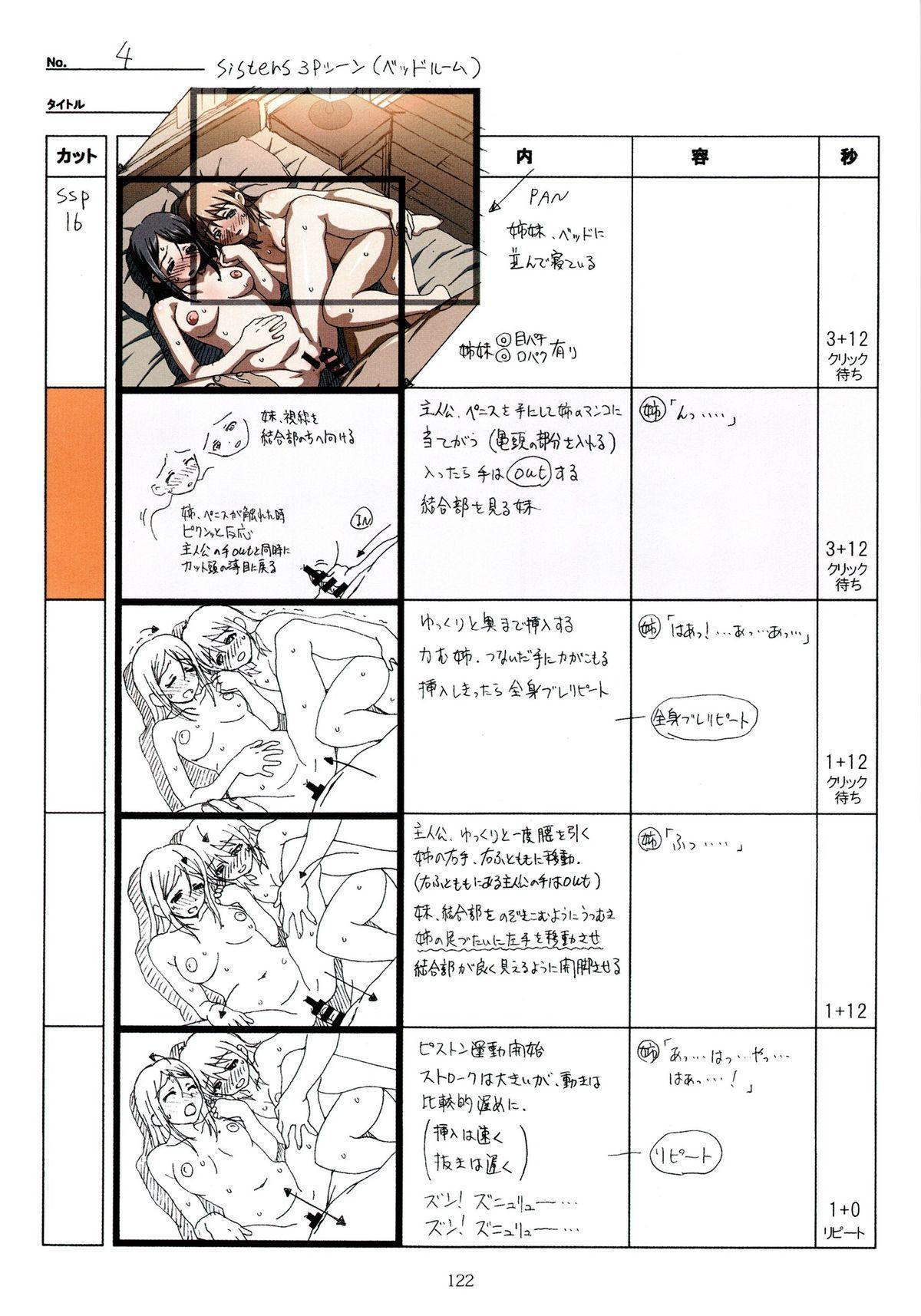 (C89) [Makino Jimusho (Taki Minashika)] SISTERS -Natsu no Saigo no Hi- H Scene All Part Storyboard (SISTERS -Natsu no Saigo no Hi-) 121