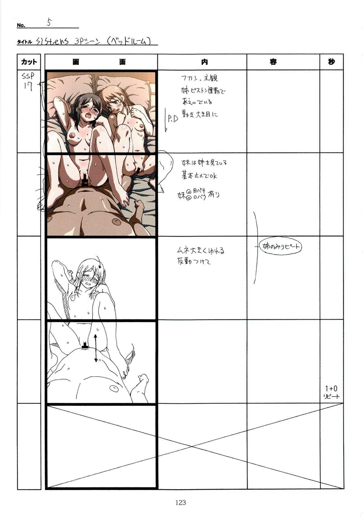 (C89) [Makino Jimusho (Taki Minashika)] SISTERS -Natsu no Saigo no Hi- H Scene All Part Storyboard (SISTERS -Natsu no Saigo no Hi-) 122