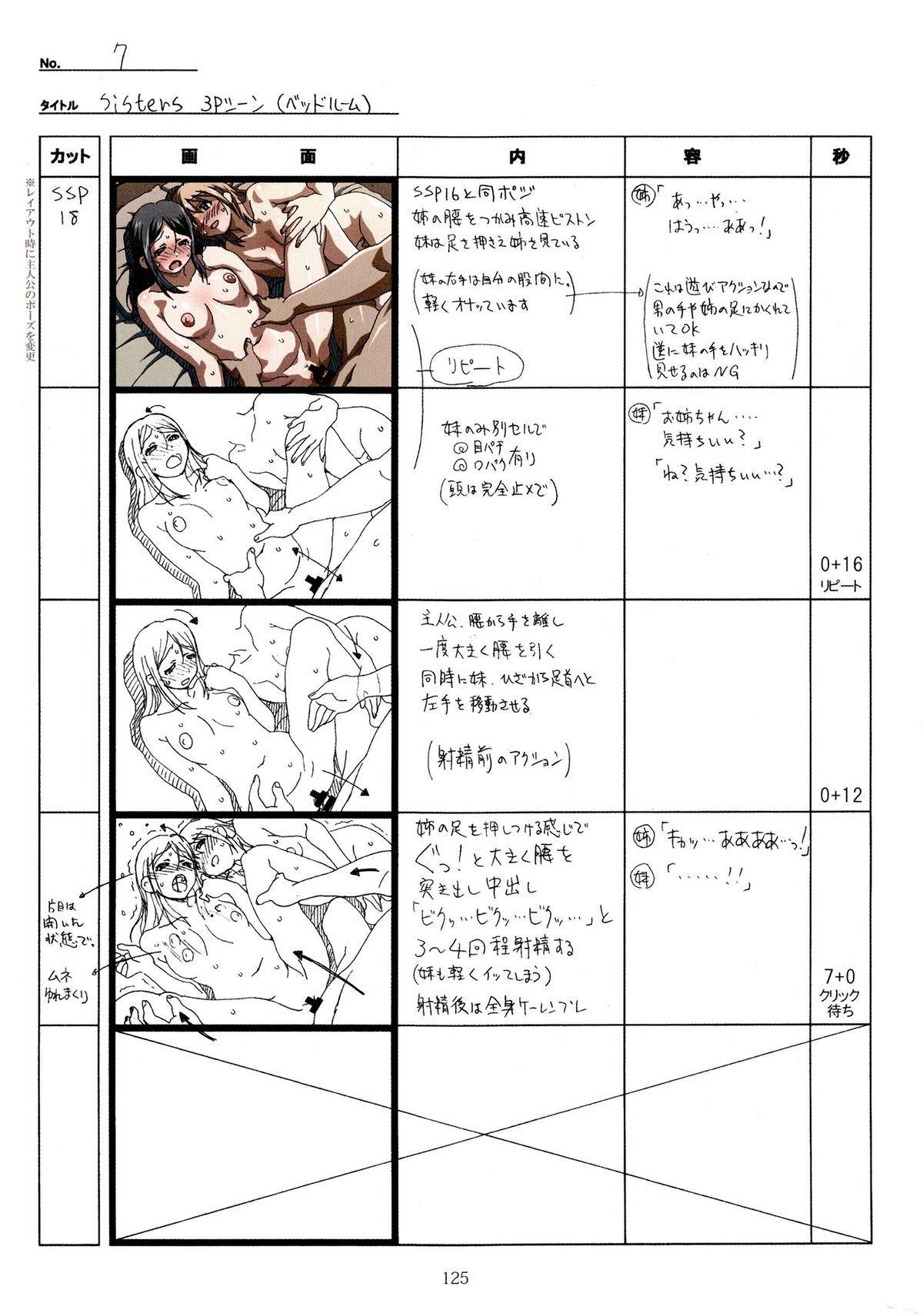 (C89) [Makino Jimusho (Taki Minashika)] SISTERS -Natsu no Saigo no Hi- H Scene All Part Storyboard (SISTERS -Natsu no Saigo no Hi-) 124