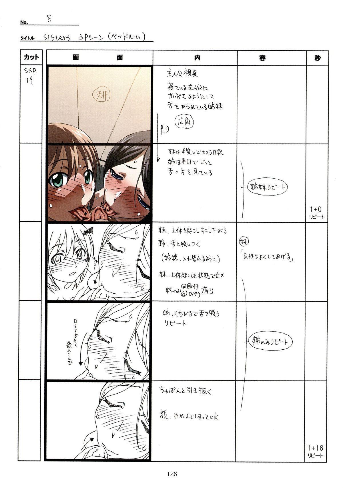 (C89) [Makino Jimusho (Taki Minashika)] SISTERS -Natsu no Saigo no Hi- H Scene All Part Storyboard (SISTERS -Natsu no Saigo no Hi-) 125