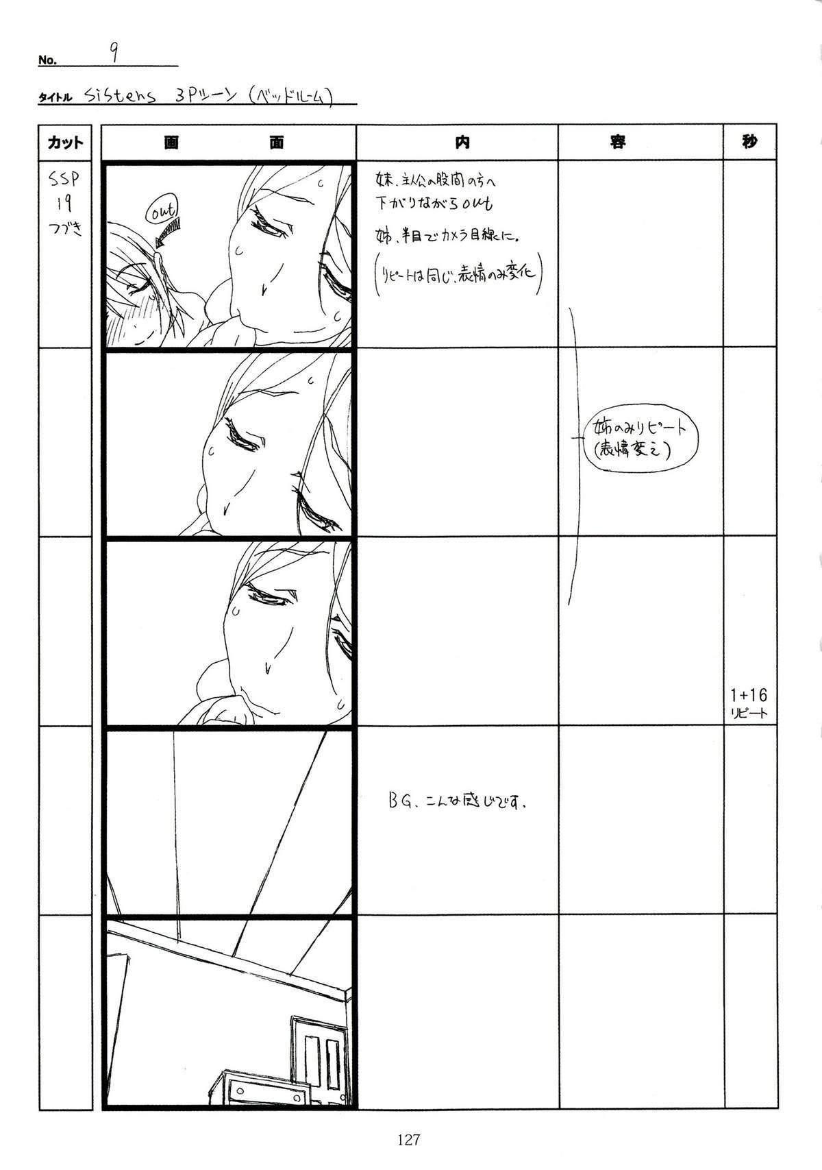 (C89) [Makino Jimusho (Taki Minashika)] SISTERS -Natsu no Saigo no Hi- H Scene All Part Storyboard (SISTERS -Natsu no Saigo no Hi-) 126