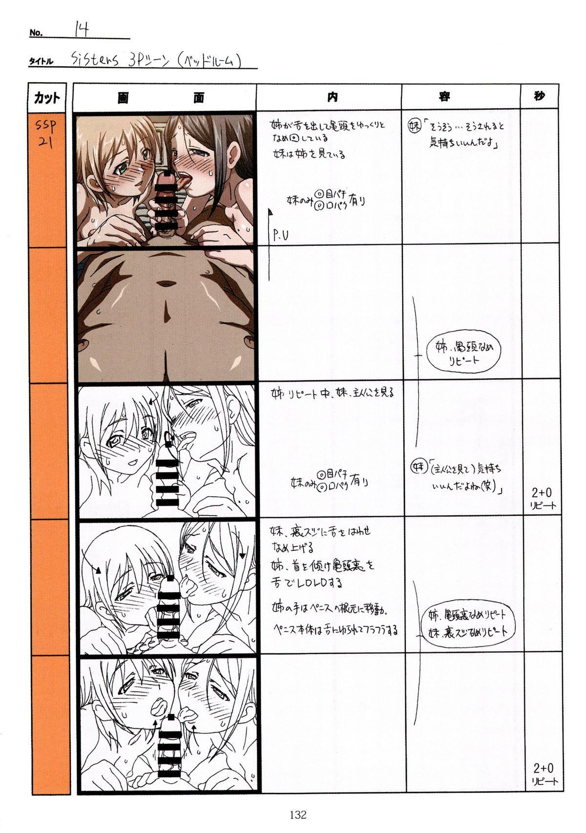 (C89) [Makino Jimusho (Taki Minashika)] SISTERS -Natsu no Saigo no Hi- H Scene All Part Storyboard (SISTERS -Natsu no Saigo no Hi-) 131
