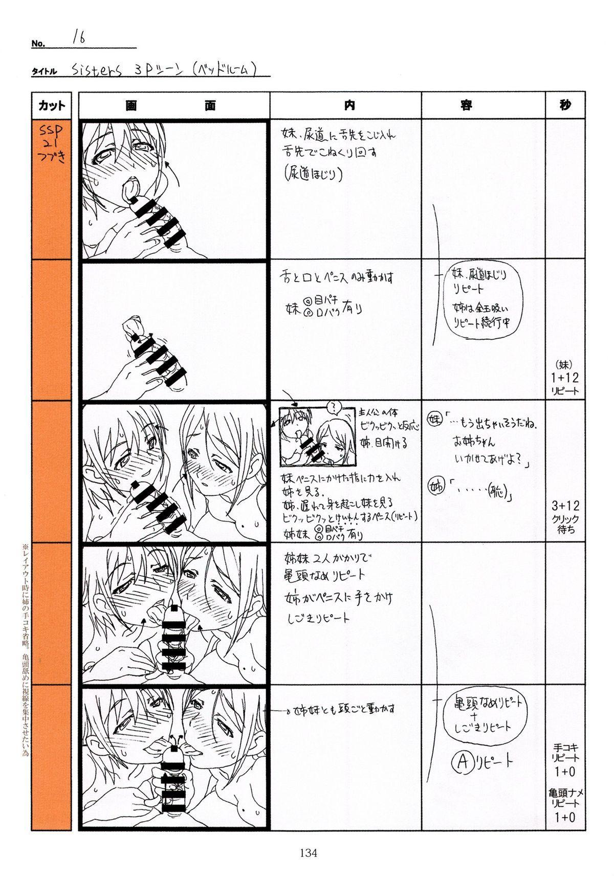 (C89) [Makino Jimusho (Taki Minashika)] SISTERS -Natsu no Saigo no Hi- H Scene All Part Storyboard (SISTERS -Natsu no Saigo no Hi-) 133