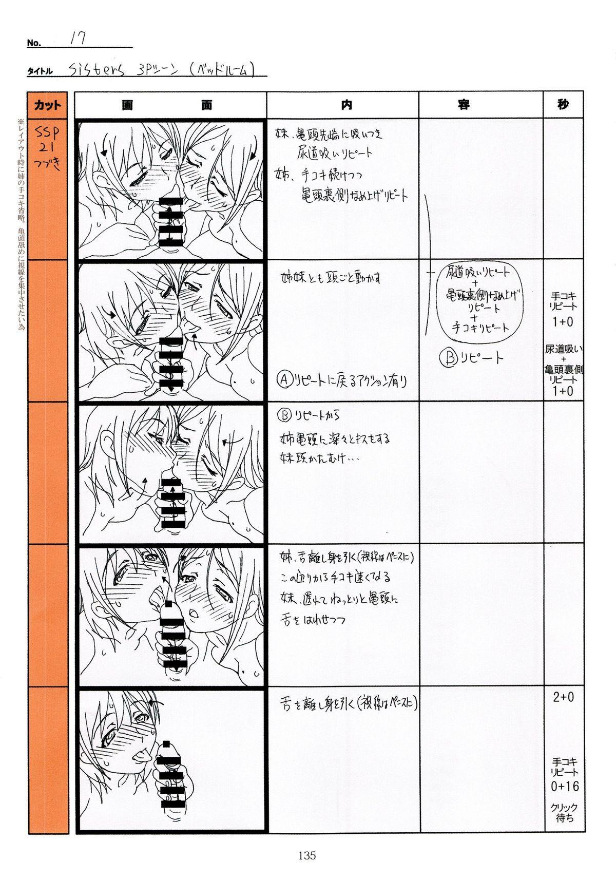 (C89) [Makino Jimusho (Taki Minashika)] SISTERS -Natsu no Saigo no Hi- H Scene All Part Storyboard (SISTERS -Natsu no Saigo no Hi-) 134