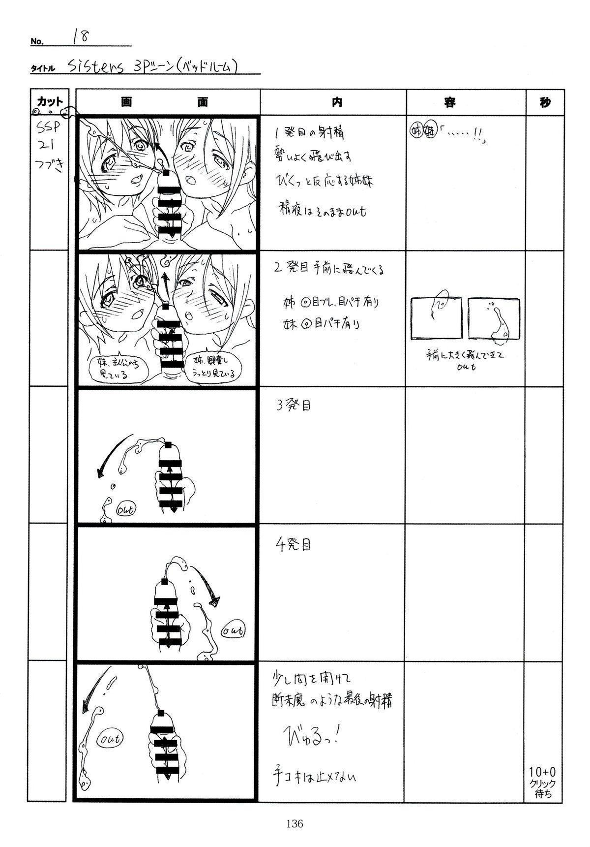 (C89) [Makino Jimusho (Taki Minashika)] SISTERS -Natsu no Saigo no Hi- H Scene All Part Storyboard (SISTERS -Natsu no Saigo no Hi-) 135