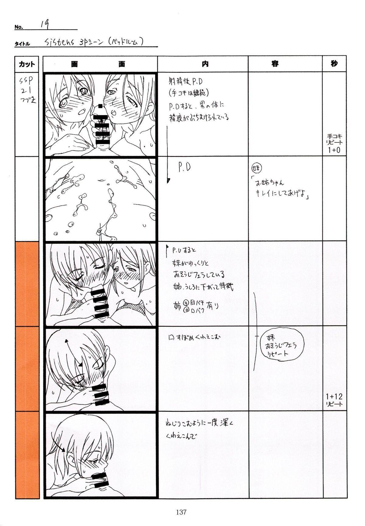 (C89) [Makino Jimusho (Taki Minashika)] SISTERS -Natsu no Saigo no Hi- H Scene All Part Storyboard (SISTERS -Natsu no Saigo no Hi-) 136