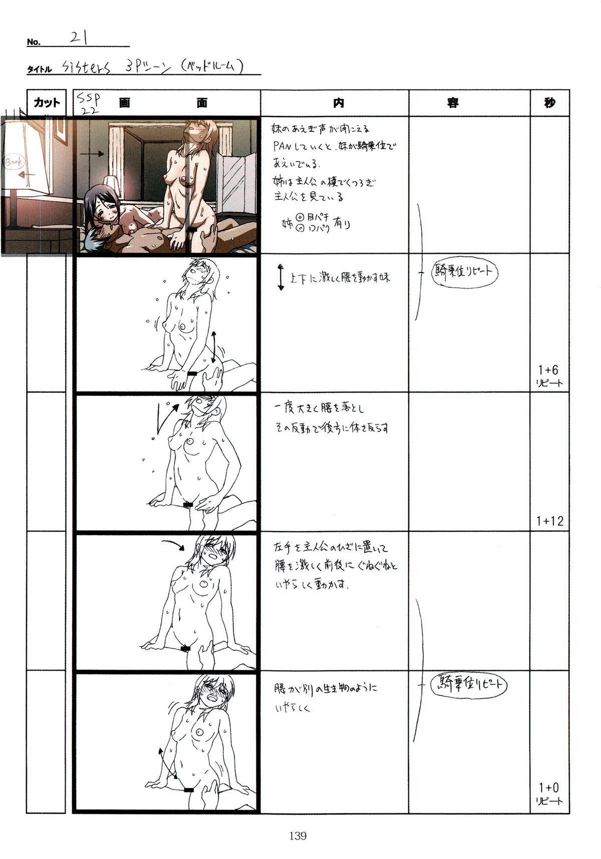 (C89) [Makino Jimusho (Taki Minashika)] SISTERS -Natsu no Saigo no Hi- H Scene All Part Storyboard (SISTERS -Natsu no Saigo no Hi-) 138