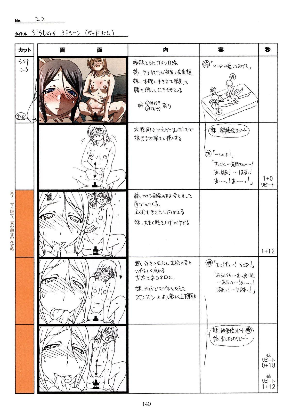 (C89) [Makino Jimusho (Taki Minashika)] SISTERS -Natsu no Saigo no Hi- H Scene All Part Storyboard (SISTERS -Natsu no Saigo no Hi-) 139