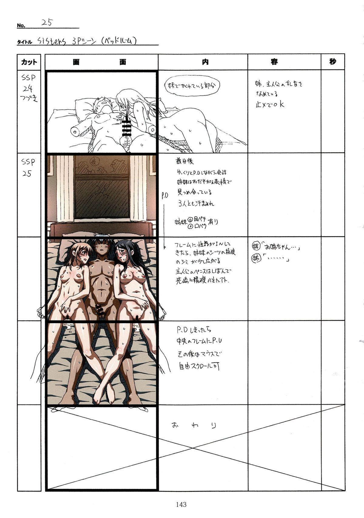 (C89) [Makino Jimusho (Taki Minashika)] SISTERS -Natsu no Saigo no Hi- H Scene All Part Storyboard (SISTERS -Natsu no Saigo no Hi-) 142