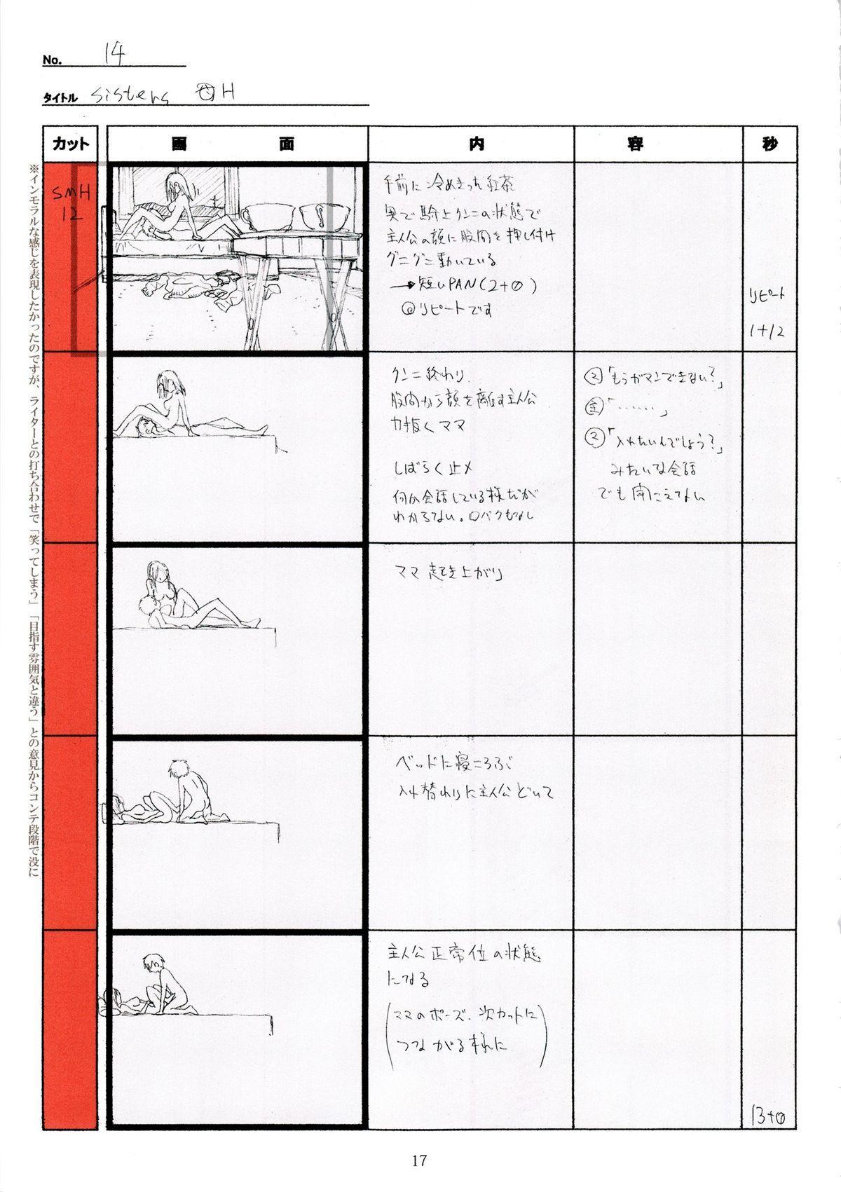 (C89) [Makino Jimusho (Taki Minashika)] SISTERS -Natsu no Saigo no Hi- H Scene All Part Storyboard (SISTERS -Natsu no Saigo no Hi-) 16