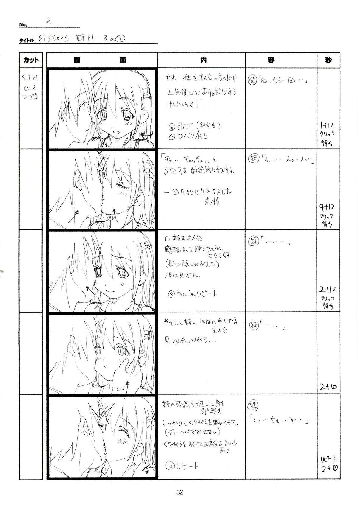 (C89) [Makino Jimusho (Taki Minashika)] SISTERS -Natsu no Saigo no Hi- H Scene All Part Storyboard (SISTERS -Natsu no Saigo no Hi-) 31