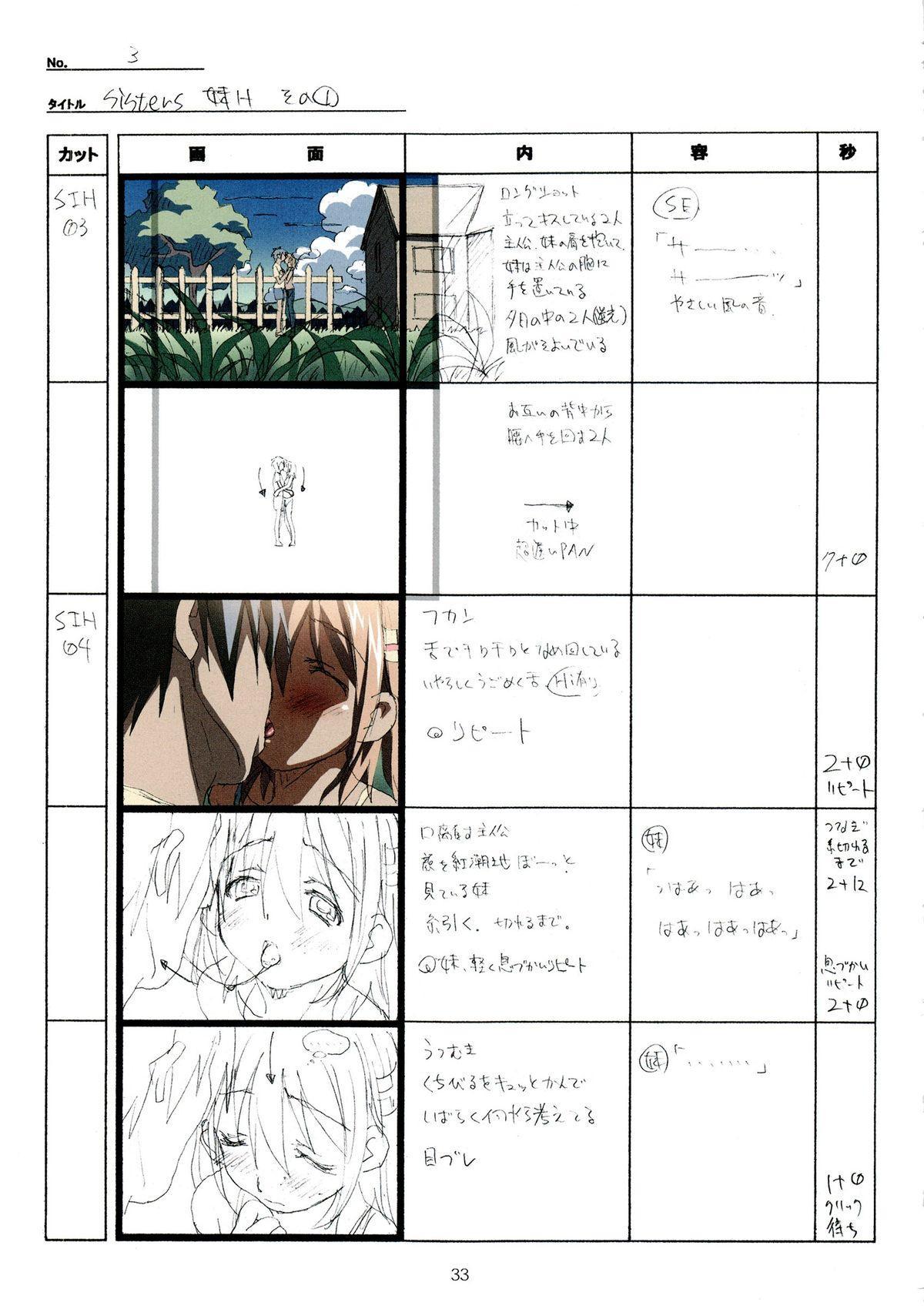 (C89) [Makino Jimusho (Taki Minashika)] SISTERS -Natsu no Saigo no Hi- H Scene All Part Storyboard (SISTERS -Natsu no Saigo no Hi-) 32