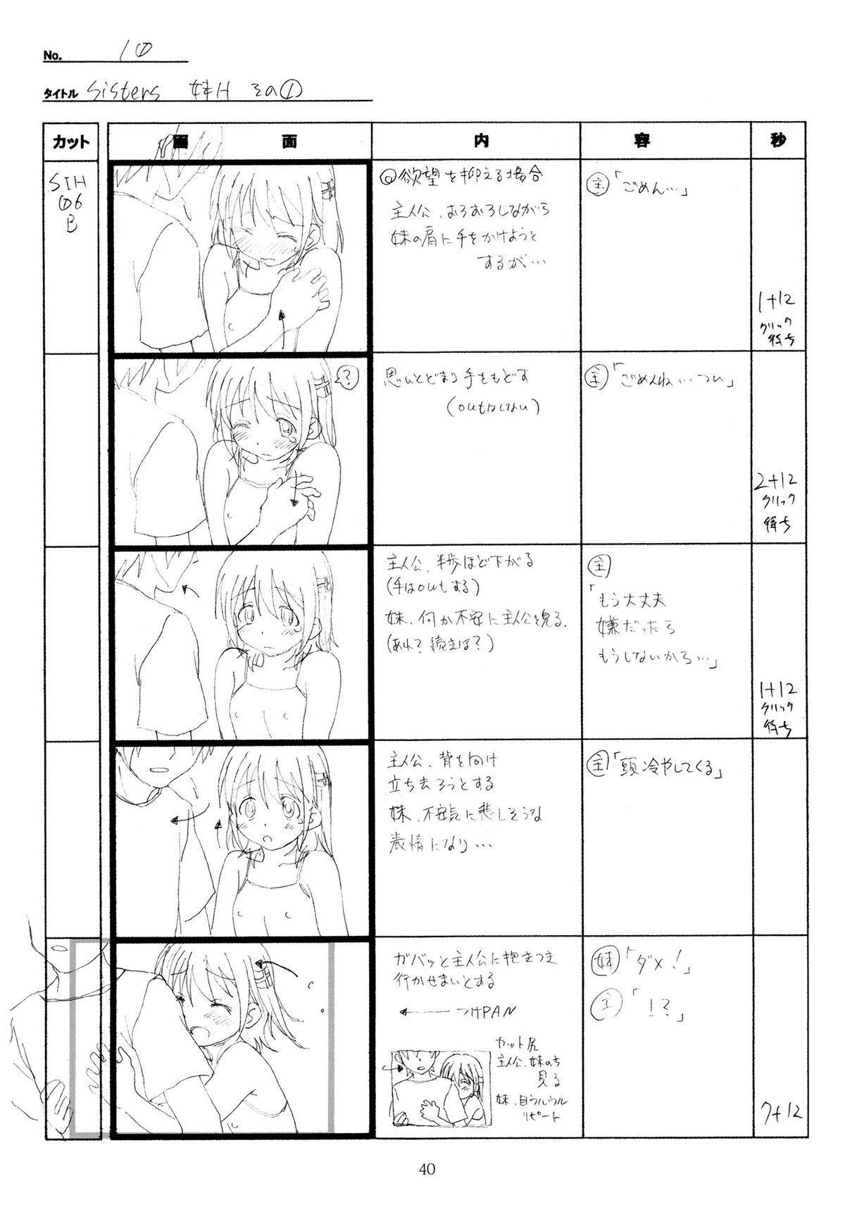 (C89) [Makino Jimusho (Taki Minashika)] SISTERS -Natsu no Saigo no Hi- H Scene All Part Storyboard (SISTERS -Natsu no Saigo no Hi-) 39