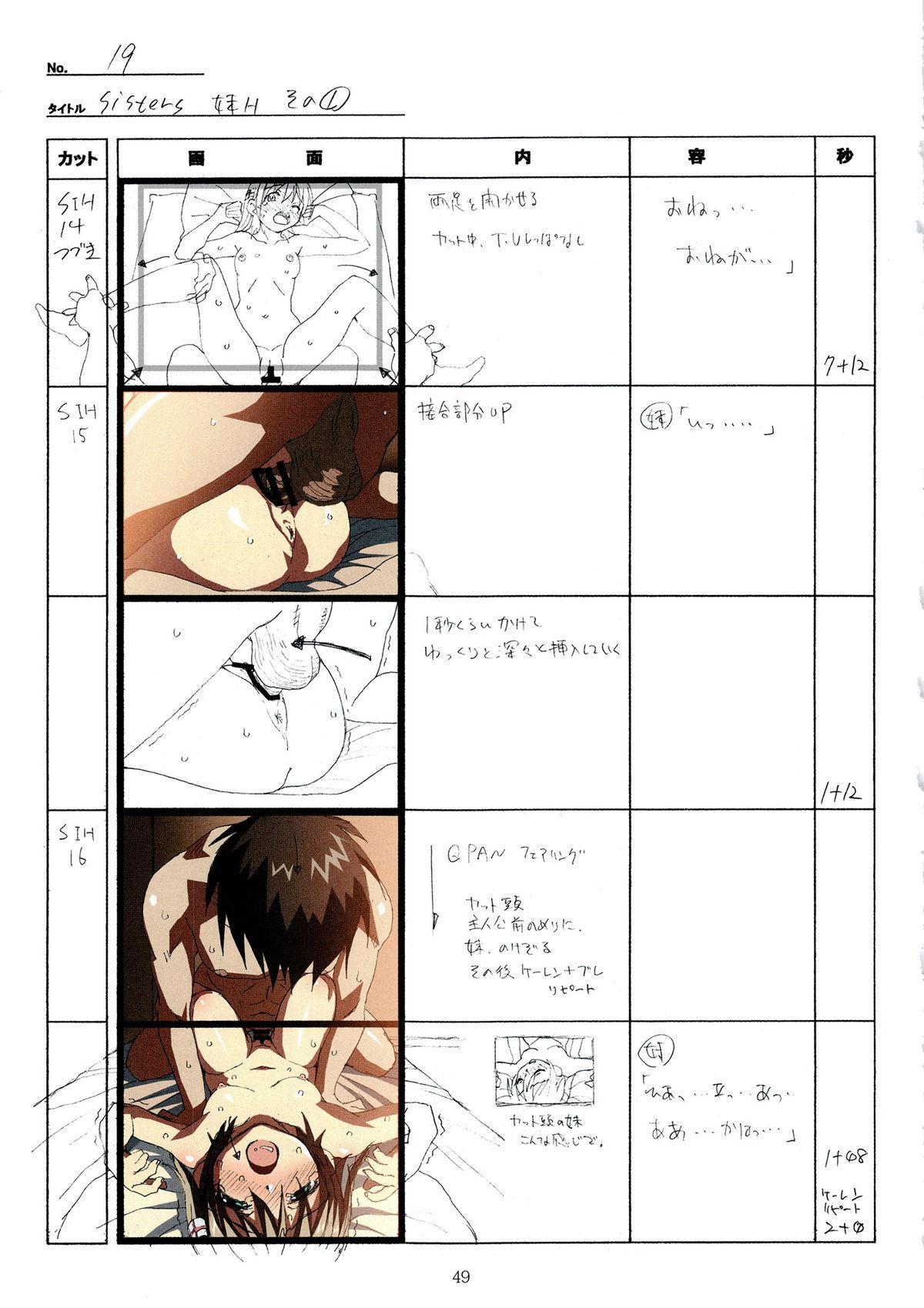 (C89) [Makino Jimusho (Taki Minashika)] SISTERS -Natsu no Saigo no Hi- H Scene All Part Storyboard (SISTERS -Natsu no Saigo no Hi-) 48