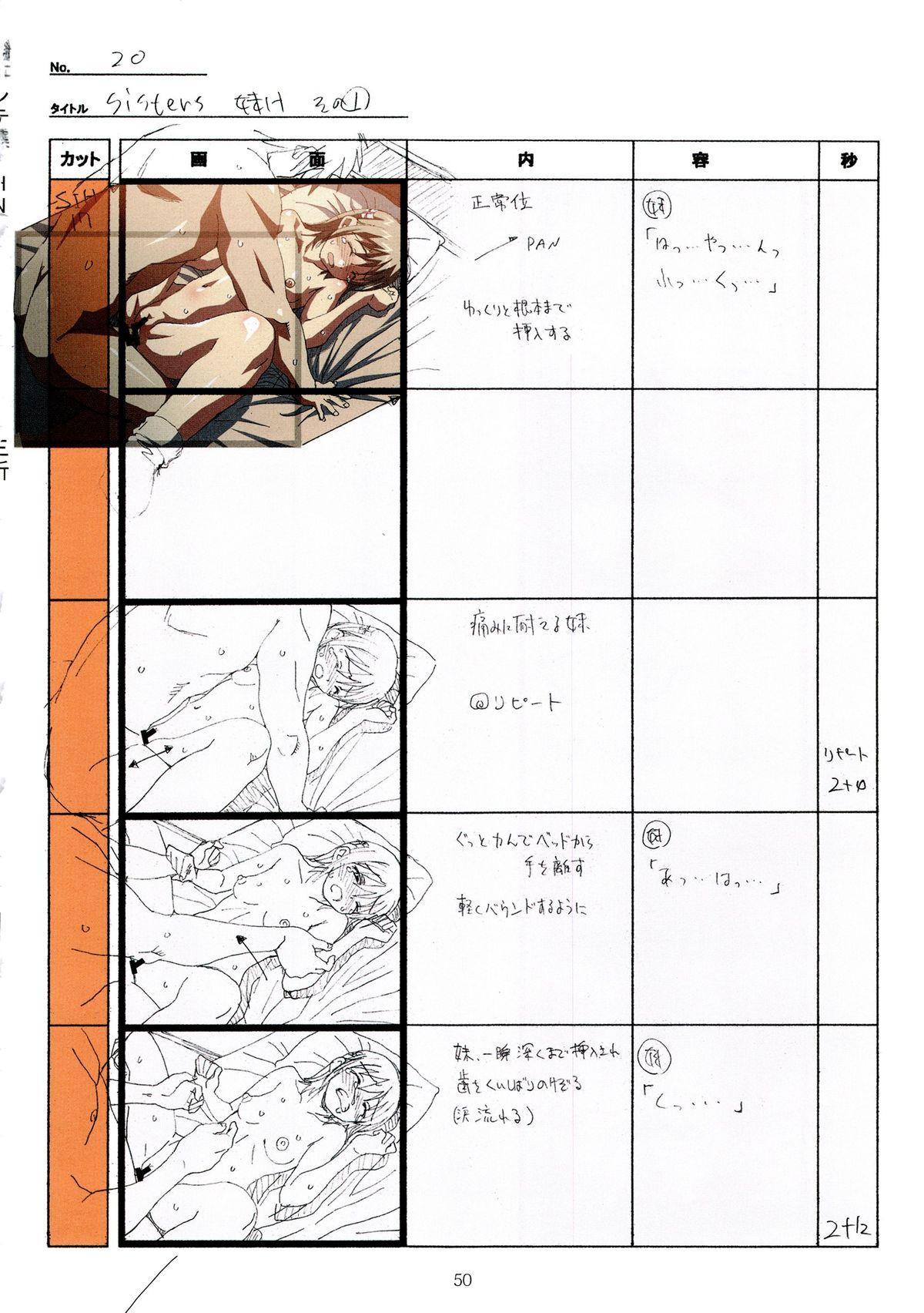 (C89) [Makino Jimusho (Taki Minashika)] SISTERS -Natsu no Saigo no Hi- H Scene All Part Storyboard (SISTERS -Natsu no Saigo no Hi-) 49