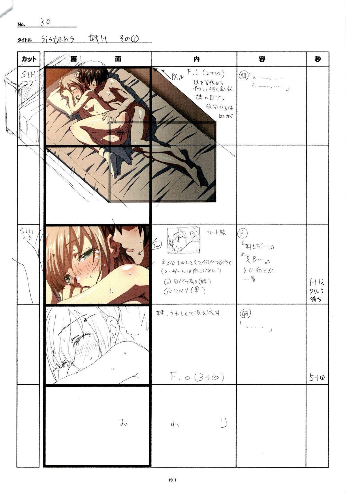 (C89) [Makino Jimusho (Taki Minashika)] SISTERS -Natsu no Saigo no Hi- H Scene All Part Storyboard (SISTERS -Natsu no Saigo no Hi-) 59