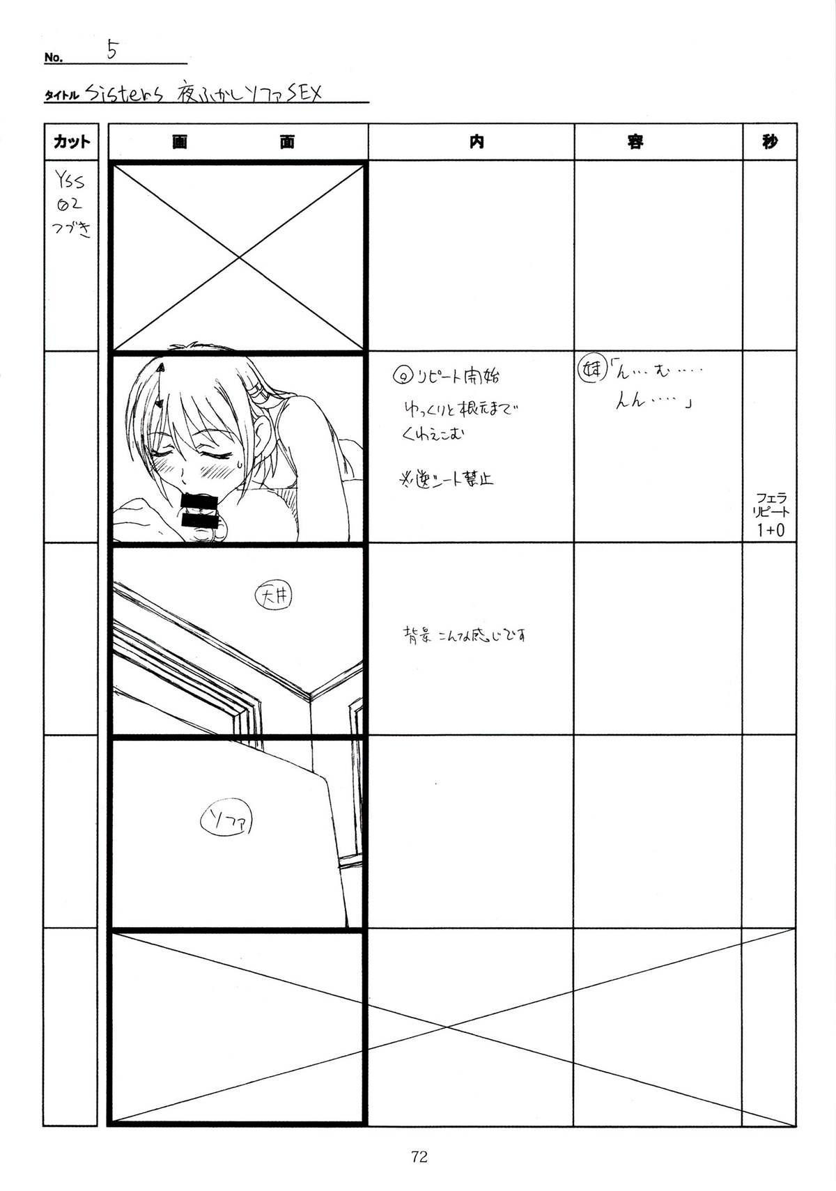 (C89) [Makino Jimusho (Taki Minashika)] SISTERS -Natsu no Saigo no Hi- H Scene All Part Storyboard (SISTERS -Natsu no Saigo no Hi-) 71