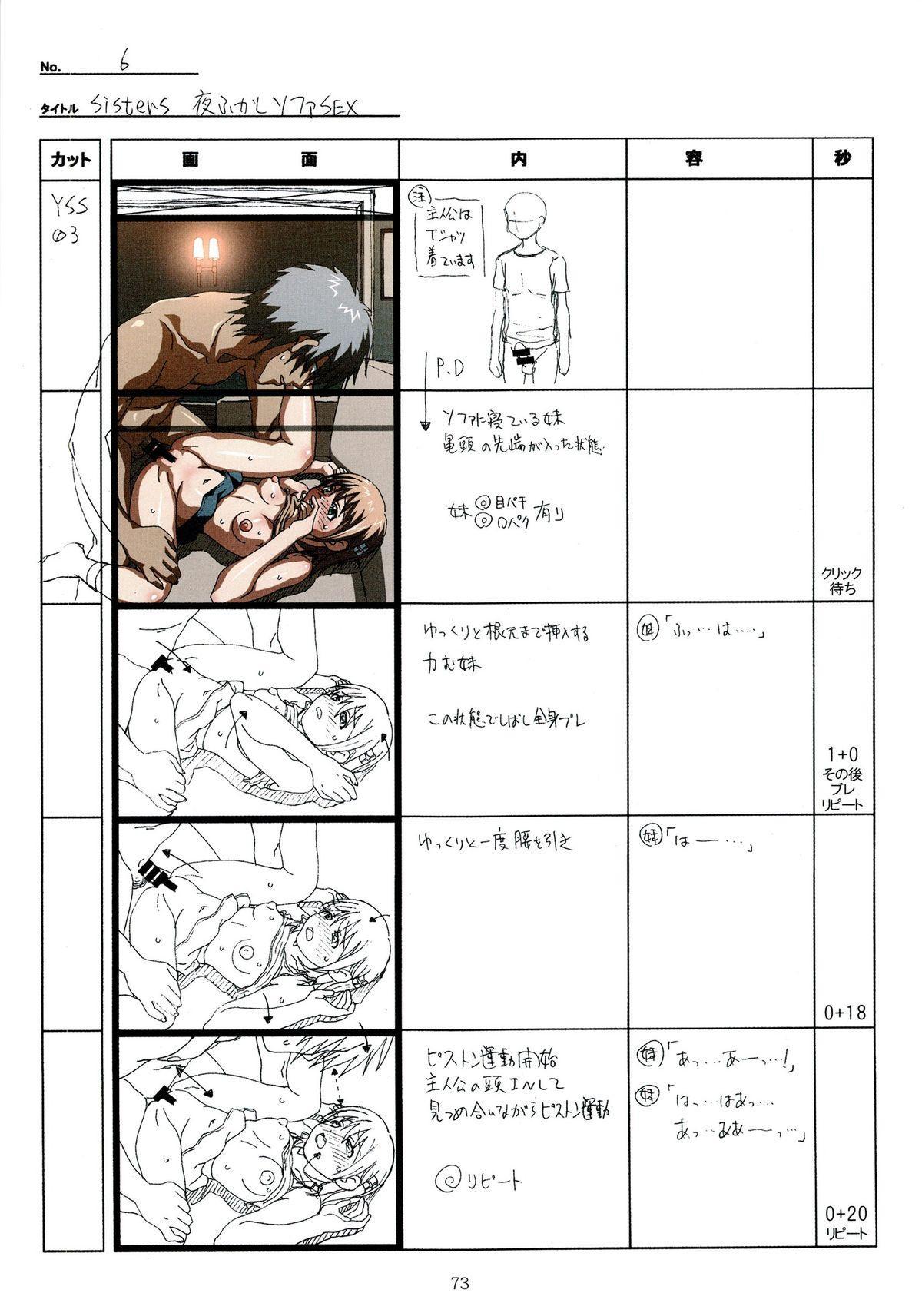 (C89) [Makino Jimusho (Taki Minashika)] SISTERS -Natsu no Saigo no Hi- H Scene All Part Storyboard (SISTERS -Natsu no Saigo no Hi-) 72