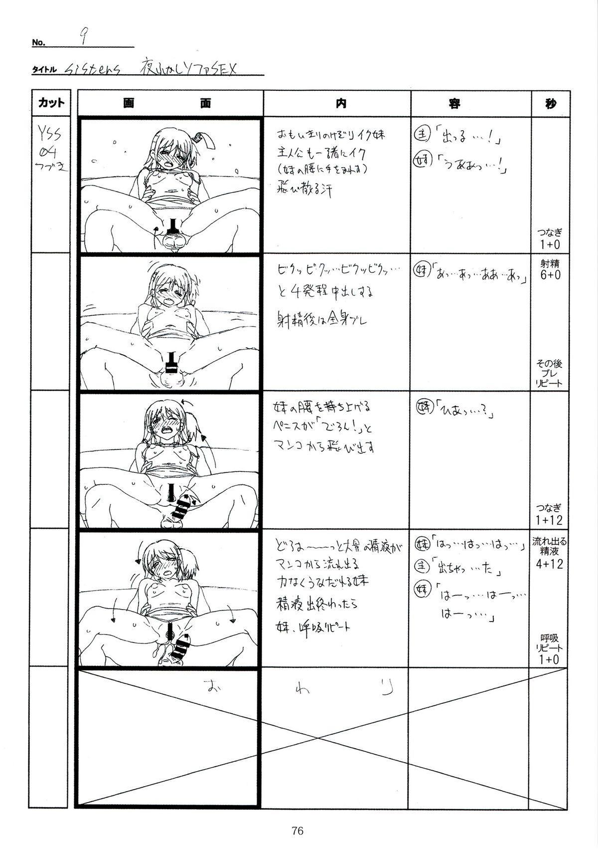 (C89) [Makino Jimusho (Taki Minashika)] SISTERS -Natsu no Saigo no Hi- H Scene All Part Storyboard (SISTERS -Natsu no Saigo no Hi-) 75