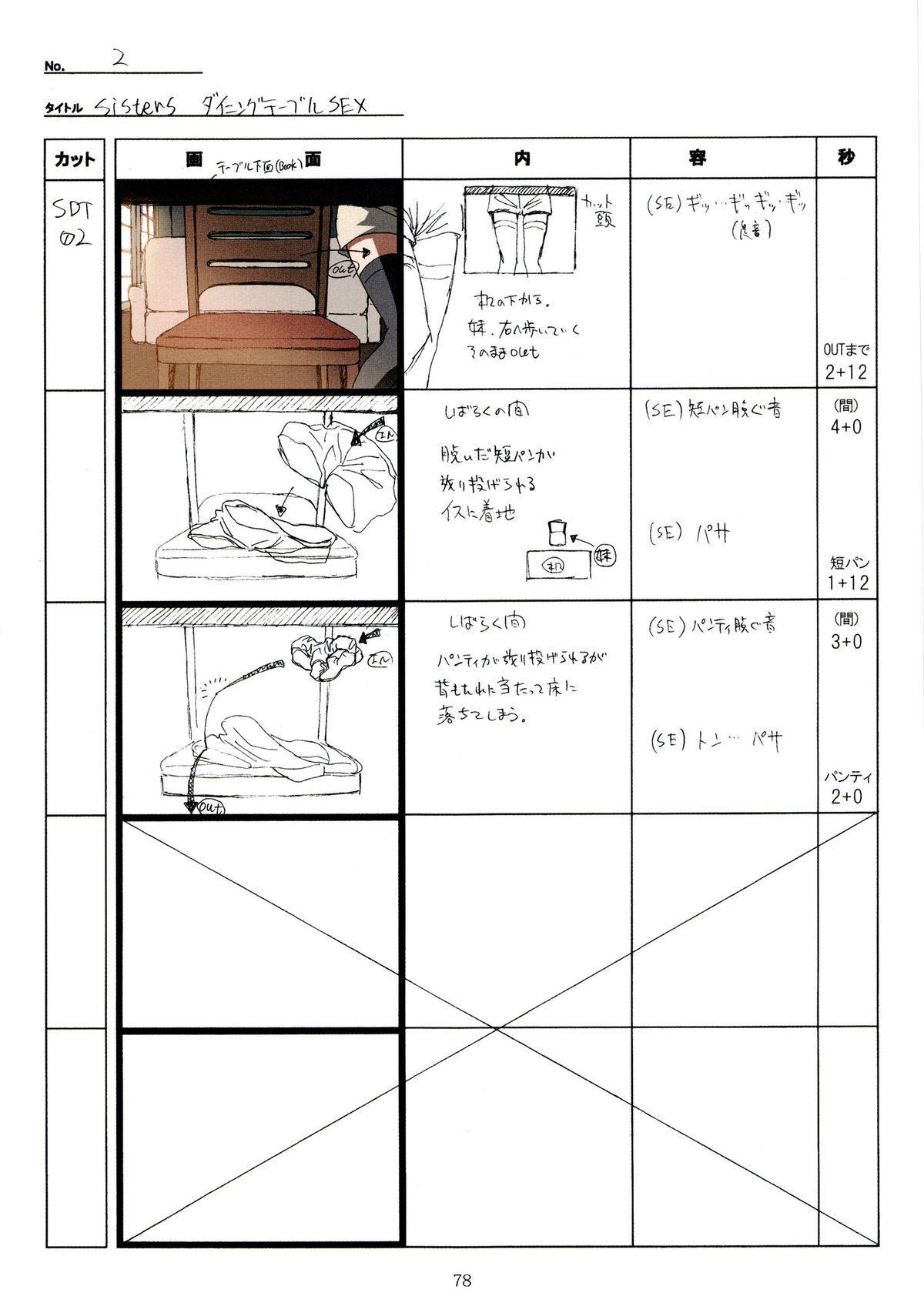 (C89) [Makino Jimusho (Taki Minashika)] SISTERS -Natsu no Saigo no Hi- H Scene All Part Storyboard (SISTERS -Natsu no Saigo no Hi-) 77