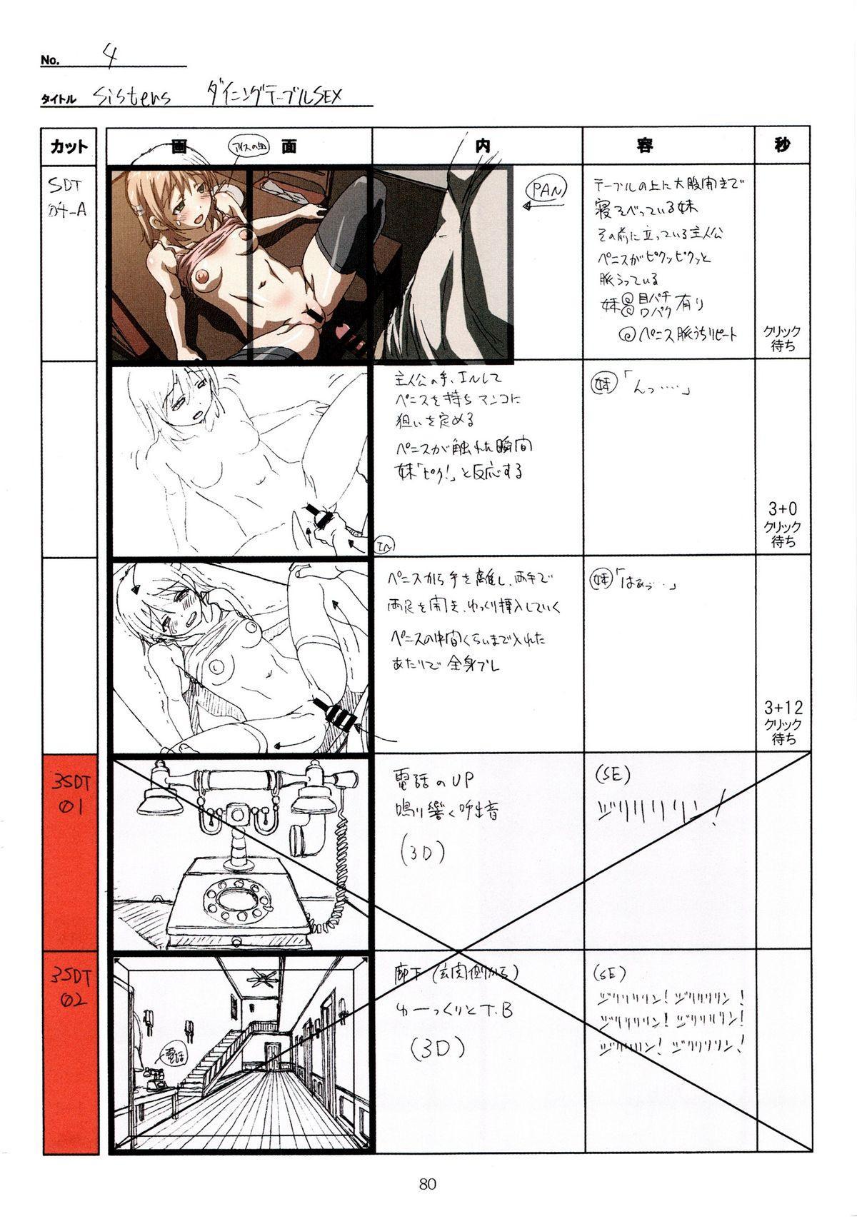(C89) [Makino Jimusho (Taki Minashika)] SISTERS -Natsu no Saigo no Hi- H Scene All Part Storyboard (SISTERS -Natsu no Saigo no Hi-) 79