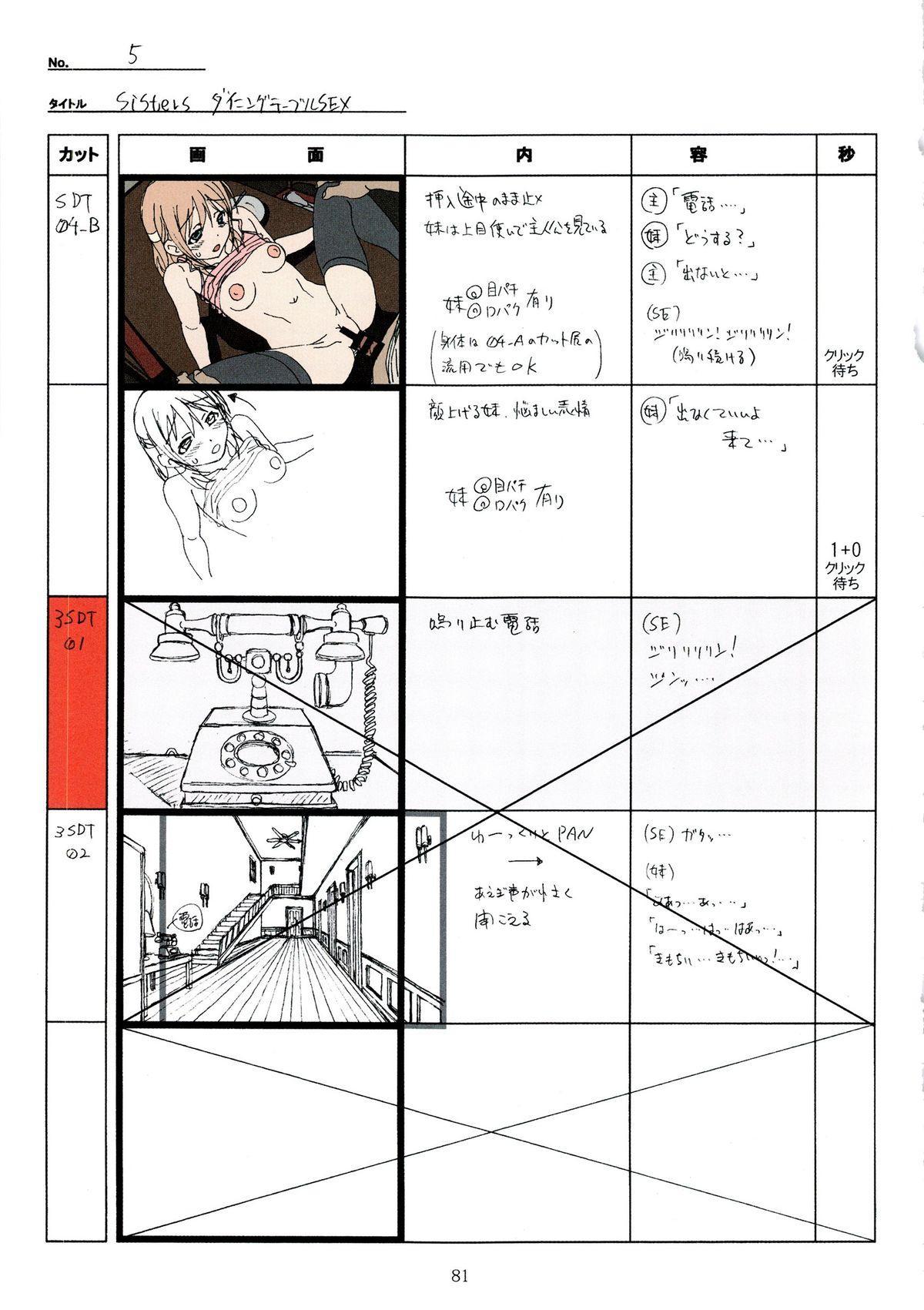 (C89) [Makino Jimusho (Taki Minashika)] SISTERS -Natsu no Saigo no Hi- H Scene All Part Storyboard (SISTERS -Natsu no Saigo no Hi-) 80