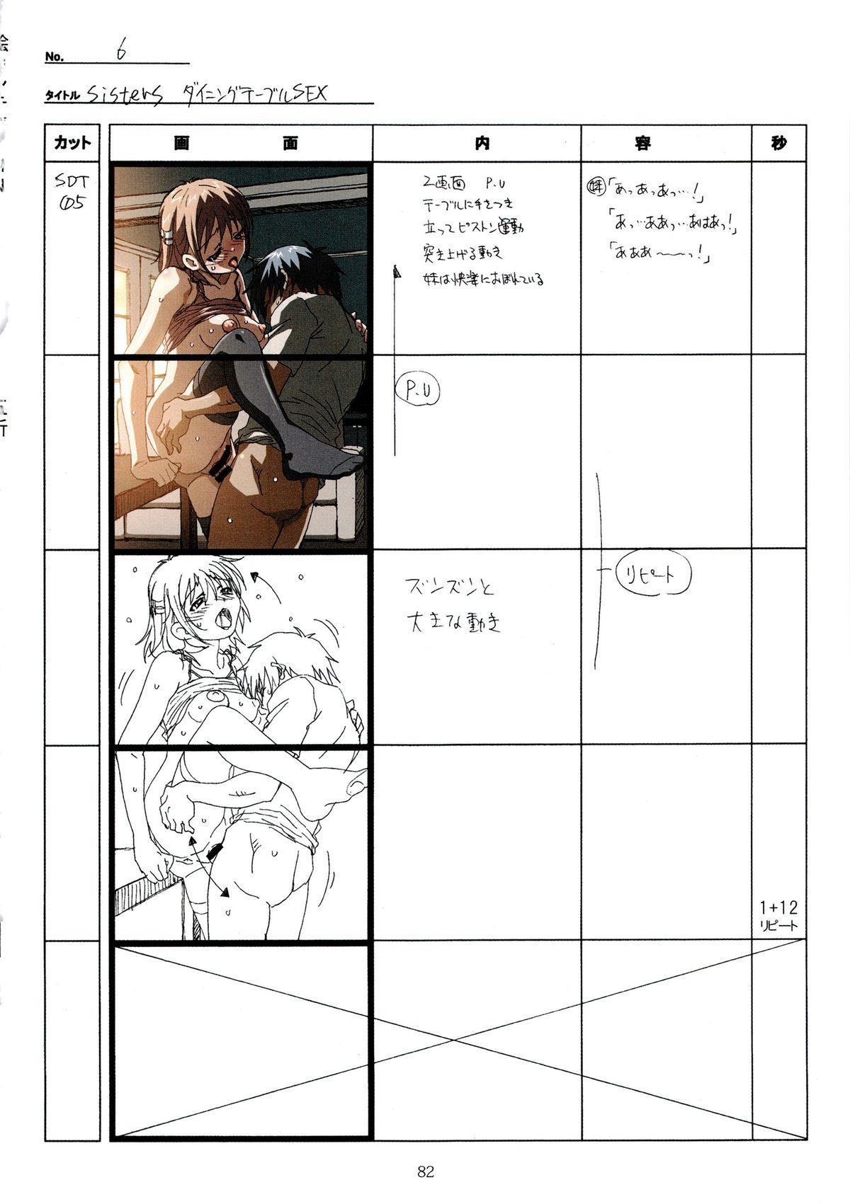 (C89) [Makino Jimusho (Taki Minashika)] SISTERS -Natsu no Saigo no Hi- H Scene All Part Storyboard (SISTERS -Natsu no Saigo no Hi-) 81