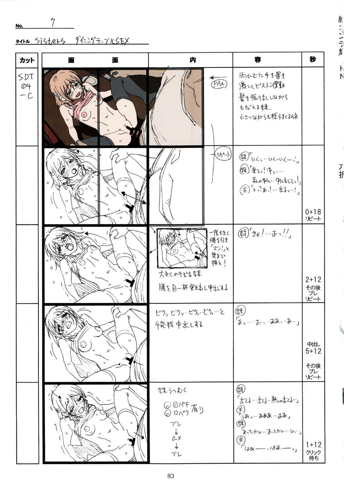 (C89) [Makino Jimusho (Taki Minashika)] SISTERS -Natsu no Saigo no Hi- H Scene All Part Storyboard (SISTERS -Natsu no Saigo no Hi-) 82
