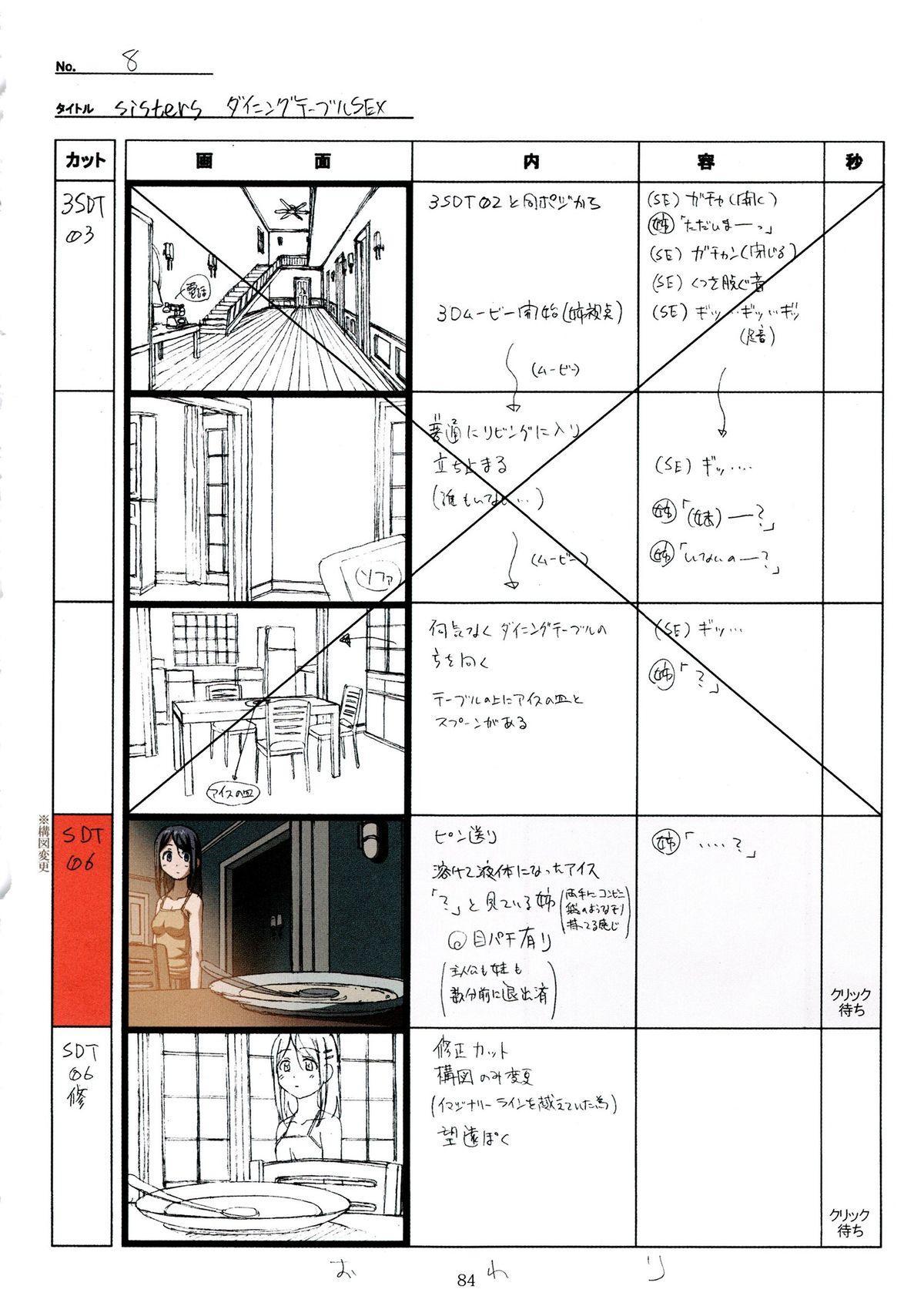 (C89) [Makino Jimusho (Taki Minashika)] SISTERS -Natsu no Saigo no Hi- H Scene All Part Storyboard (SISTERS -Natsu no Saigo no Hi-) 83