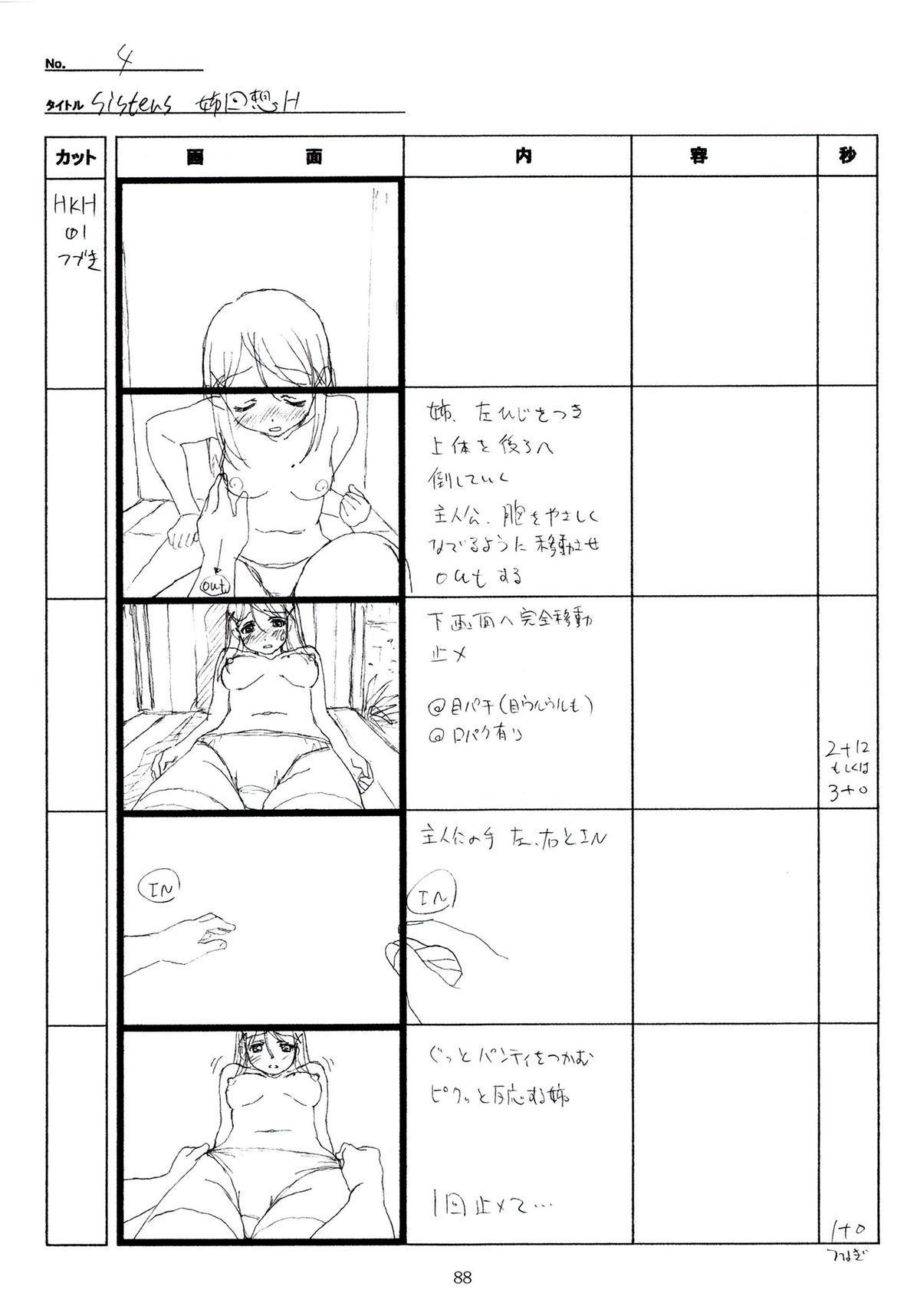 (C89) [Makino Jimusho (Taki Minashika)] SISTERS -Natsu no Saigo no Hi- H Scene All Part Storyboard (SISTERS -Natsu no Saigo no Hi-) 87