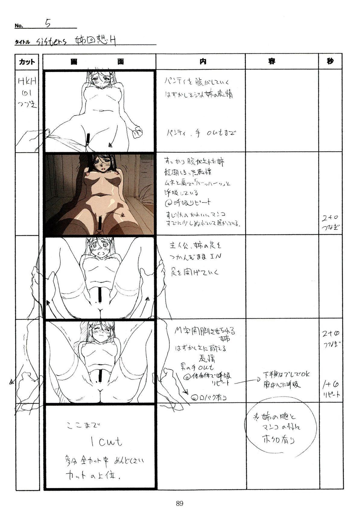 (C89) [Makino Jimusho (Taki Minashika)] SISTERS -Natsu no Saigo no Hi- H Scene All Part Storyboard (SISTERS -Natsu no Saigo no Hi-) 88