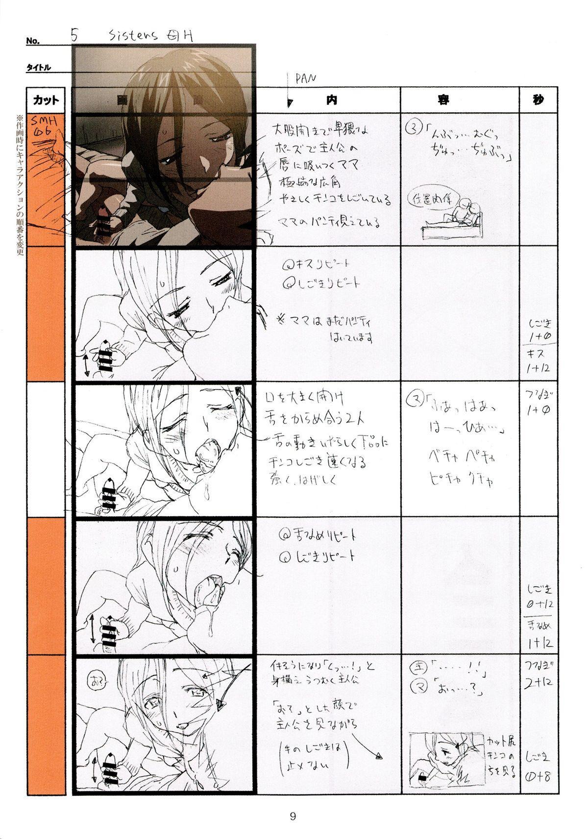 (C89) [Makino Jimusho (Taki Minashika)] SISTERS -Natsu no Saigo no Hi- H Scene All Part Storyboard (SISTERS -Natsu no Saigo no Hi-) 8