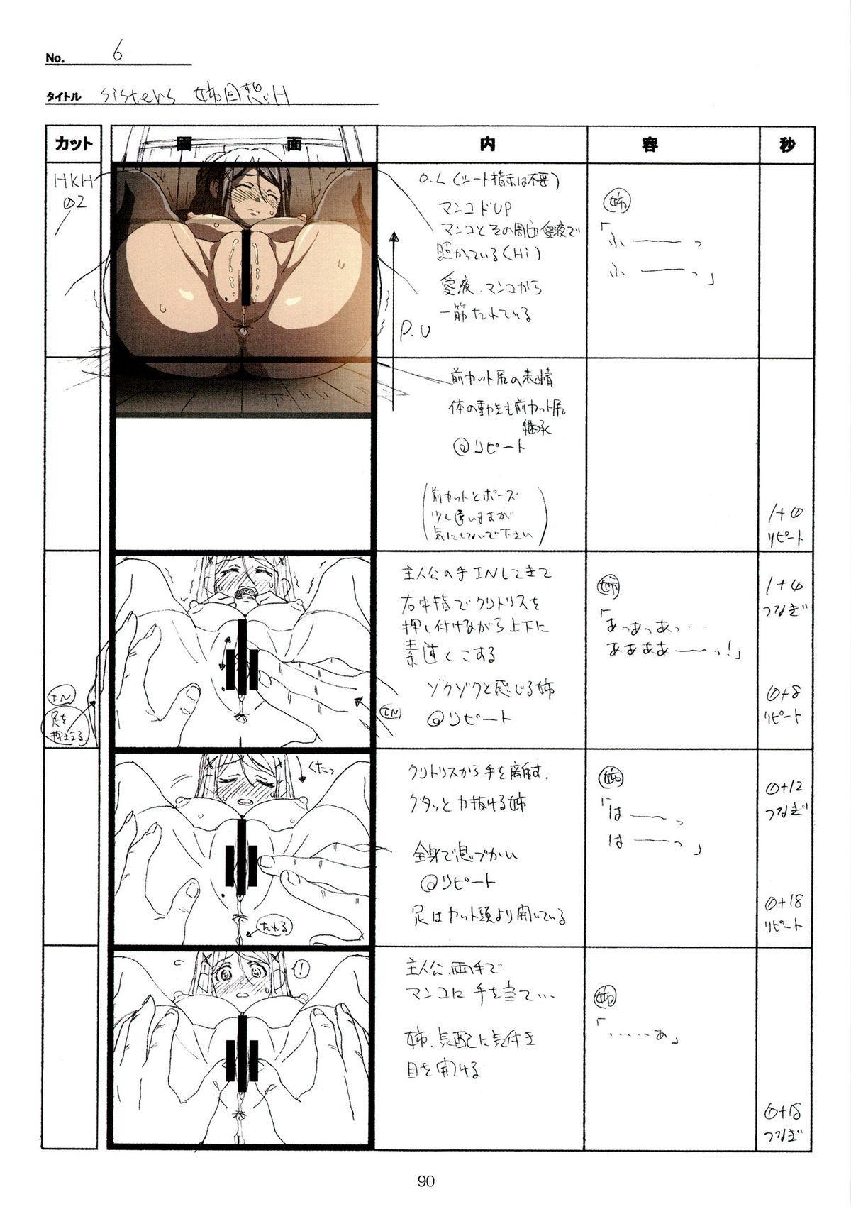 (C89) [Makino Jimusho (Taki Minashika)] SISTERS -Natsu no Saigo no Hi- H Scene All Part Storyboard (SISTERS -Natsu no Saigo no Hi-) 89