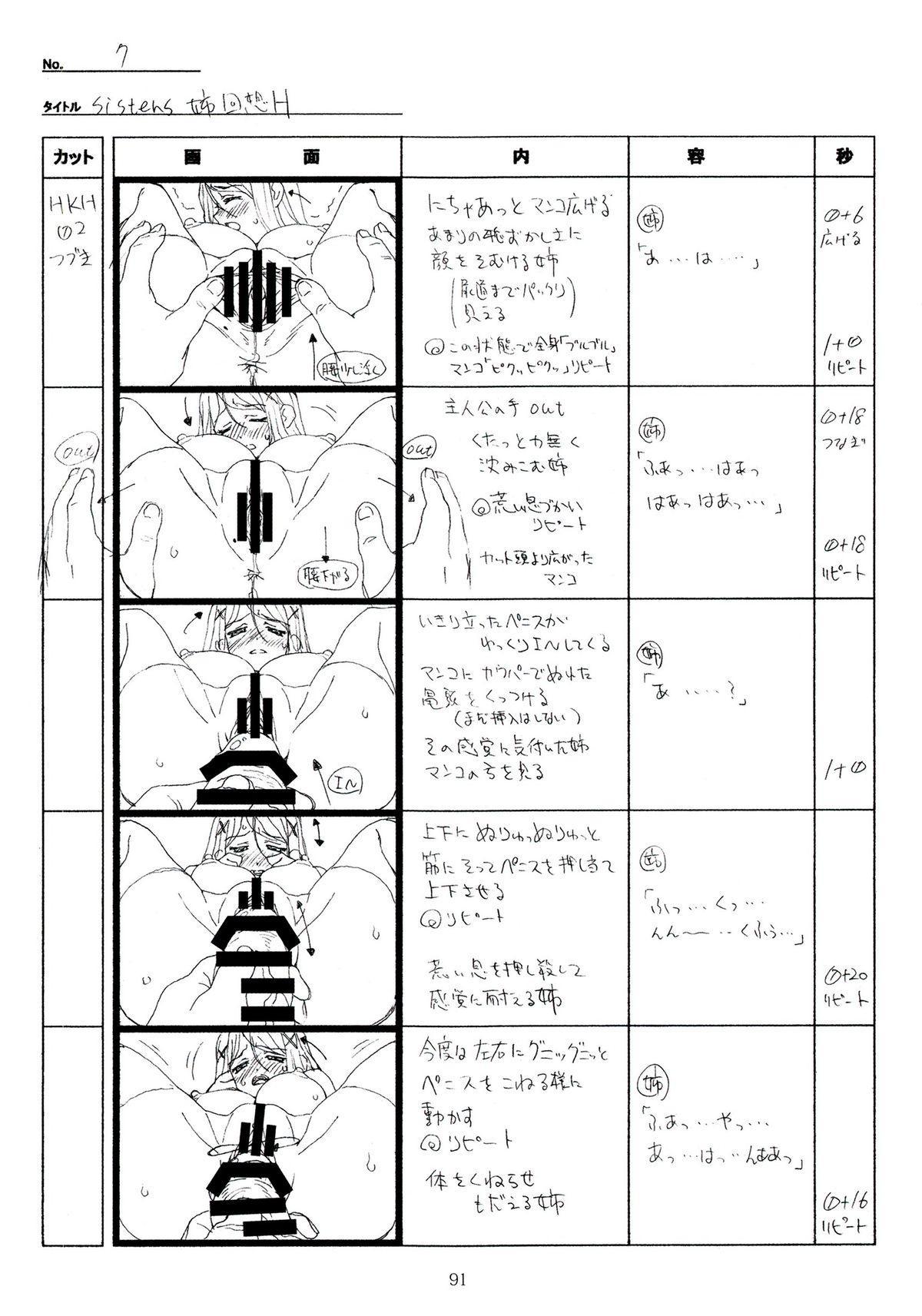 (C89) [Makino Jimusho (Taki Minashika)] SISTERS -Natsu no Saigo no Hi- H Scene All Part Storyboard (SISTERS -Natsu no Saigo no Hi-) 90