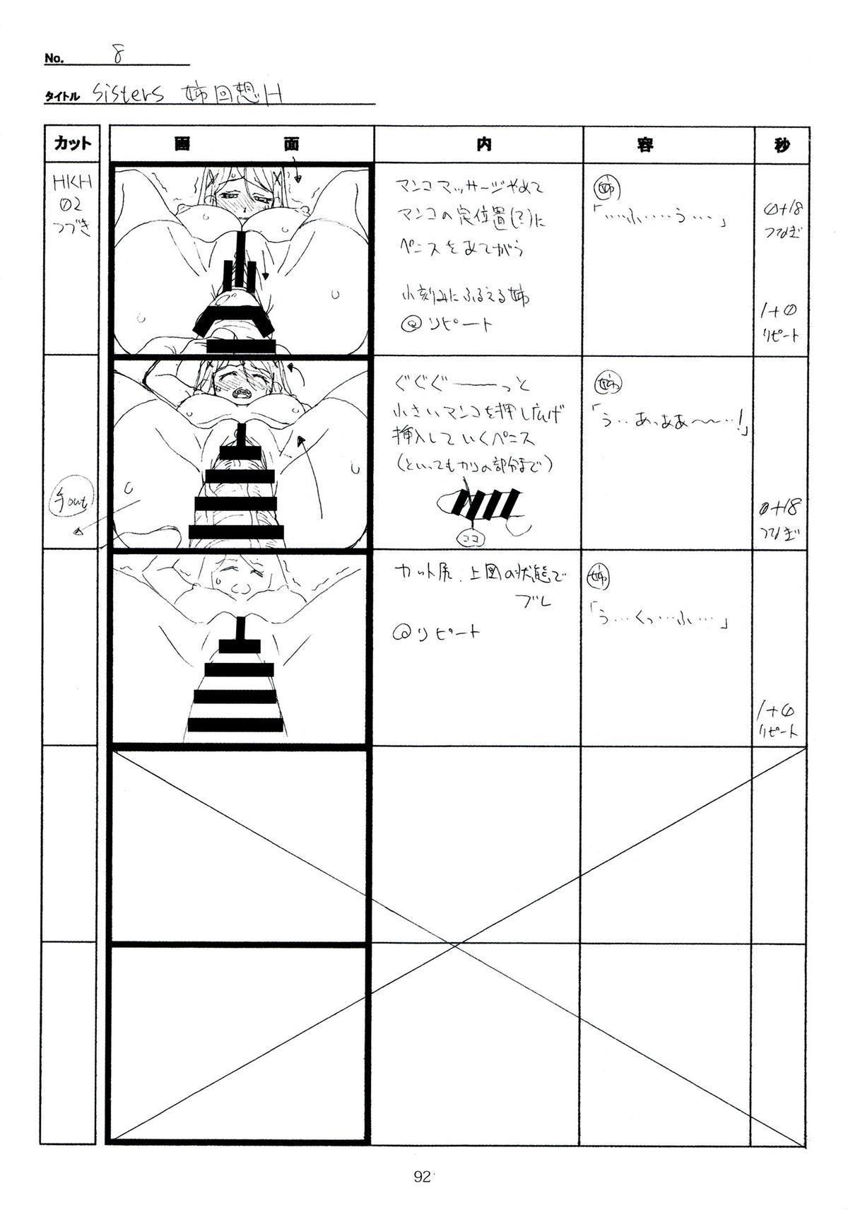 (C89) [Makino Jimusho (Taki Minashika)] SISTERS -Natsu no Saigo no Hi- H Scene All Part Storyboard (SISTERS -Natsu no Saigo no Hi-) 91