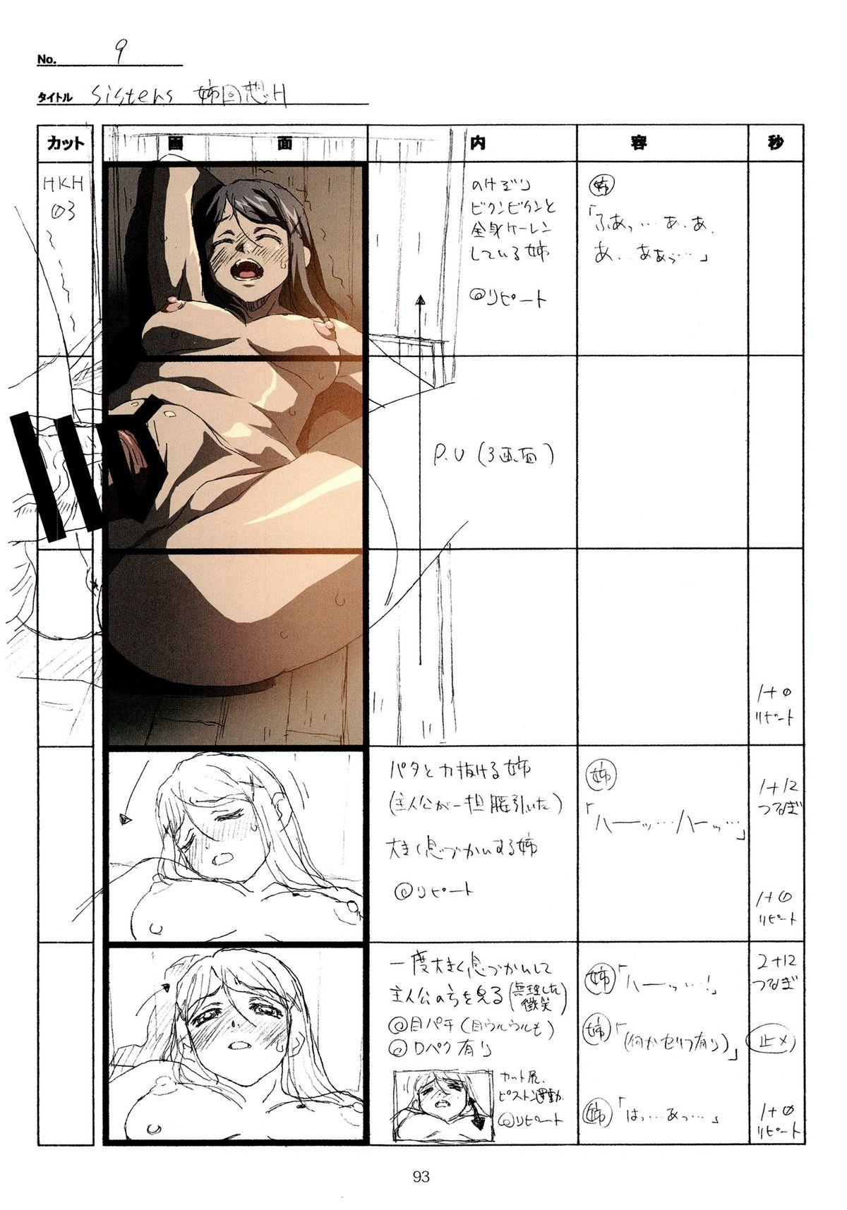 (C89) [Makino Jimusho (Taki Minashika)] SISTERS -Natsu no Saigo no Hi- H Scene All Part Storyboard (SISTERS -Natsu no Saigo no Hi-) 92