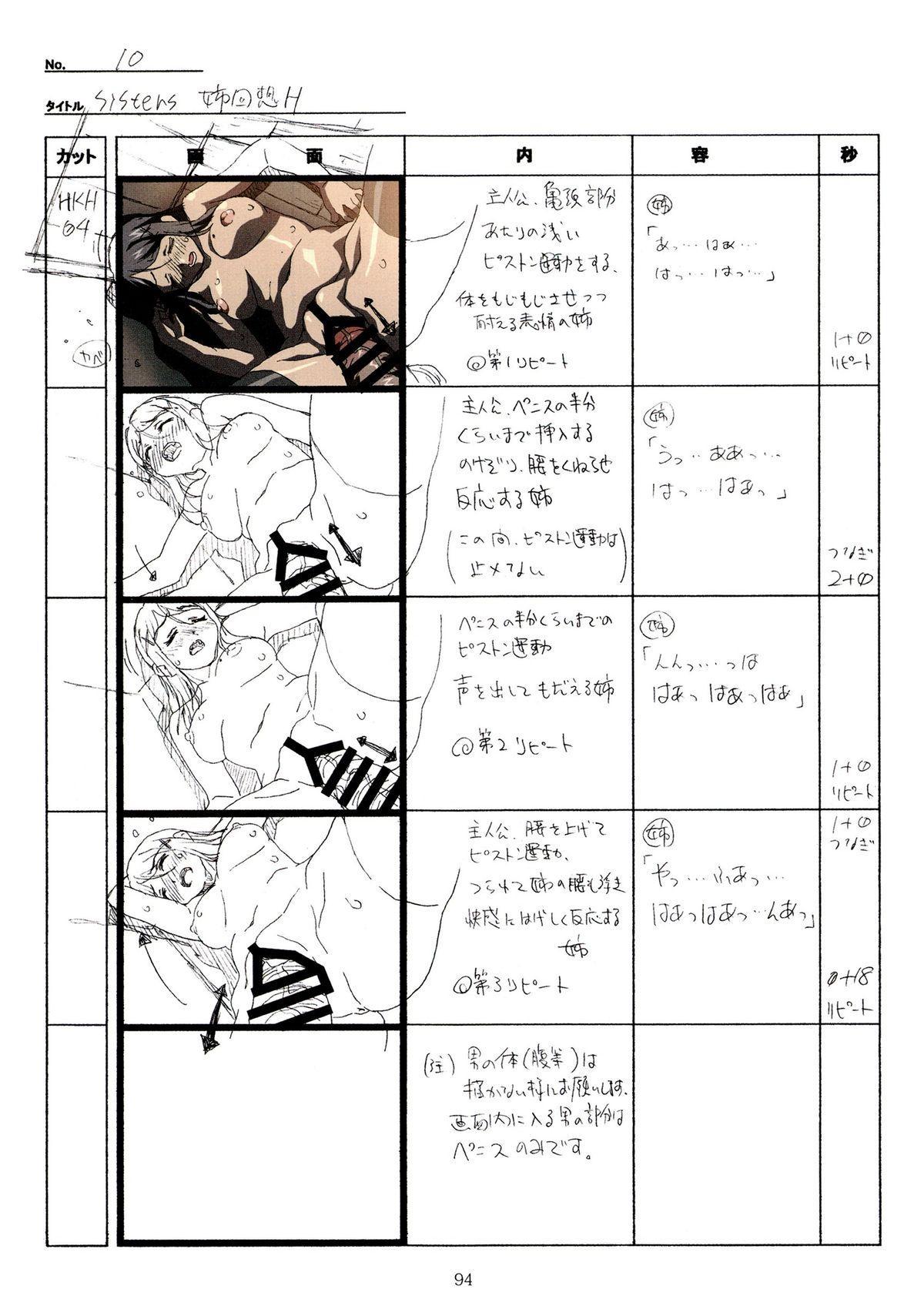 (C89) [Makino Jimusho (Taki Minashika)] SISTERS -Natsu no Saigo no Hi- H Scene All Part Storyboard (SISTERS -Natsu no Saigo no Hi-) 93