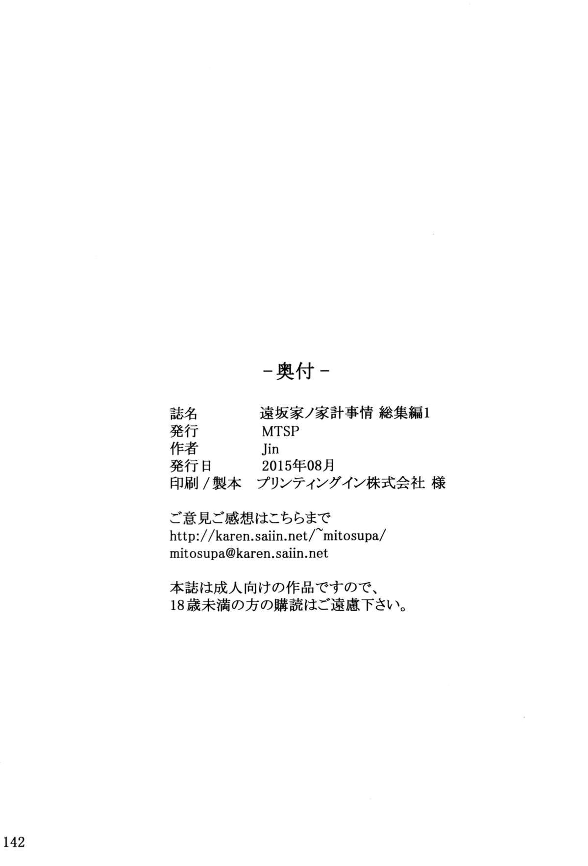Tosaka-ke no Kakei Jijou Soushuuhen 1 141