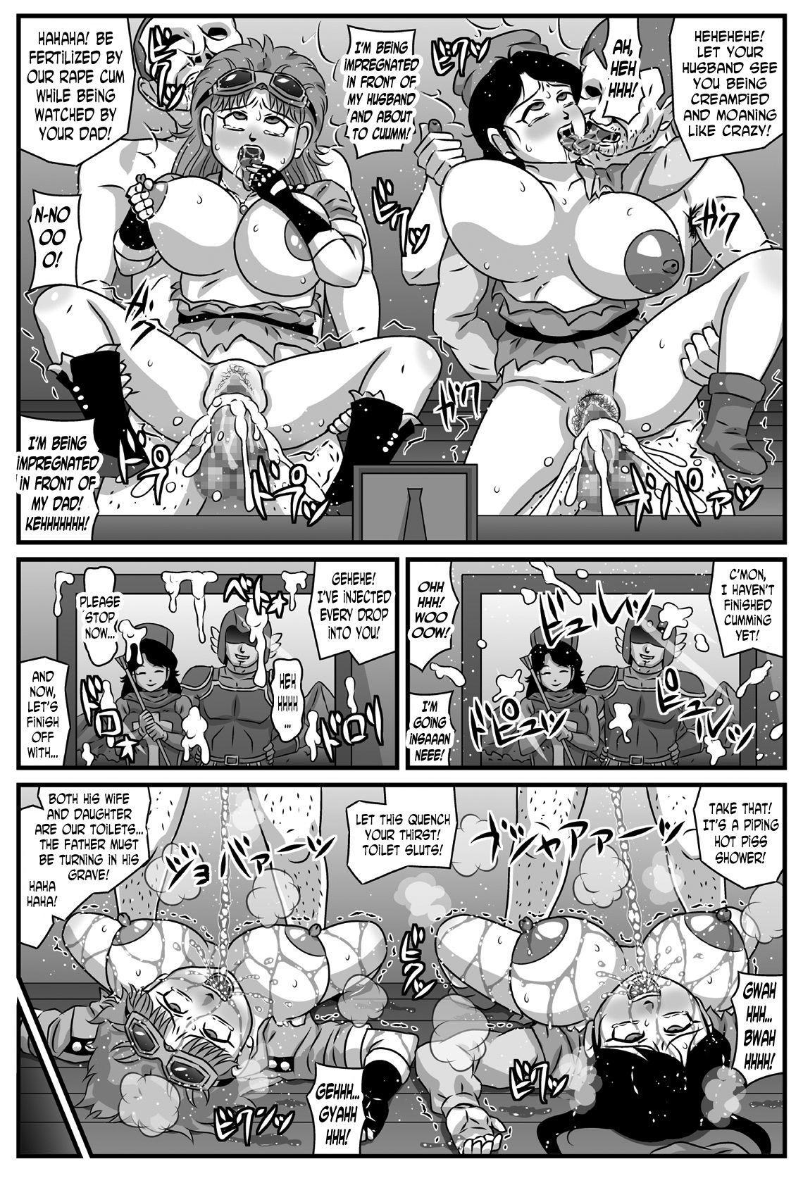 Kyonyuu Oyako ga Touzoku-dan no Nikubenki ni Nattara 23