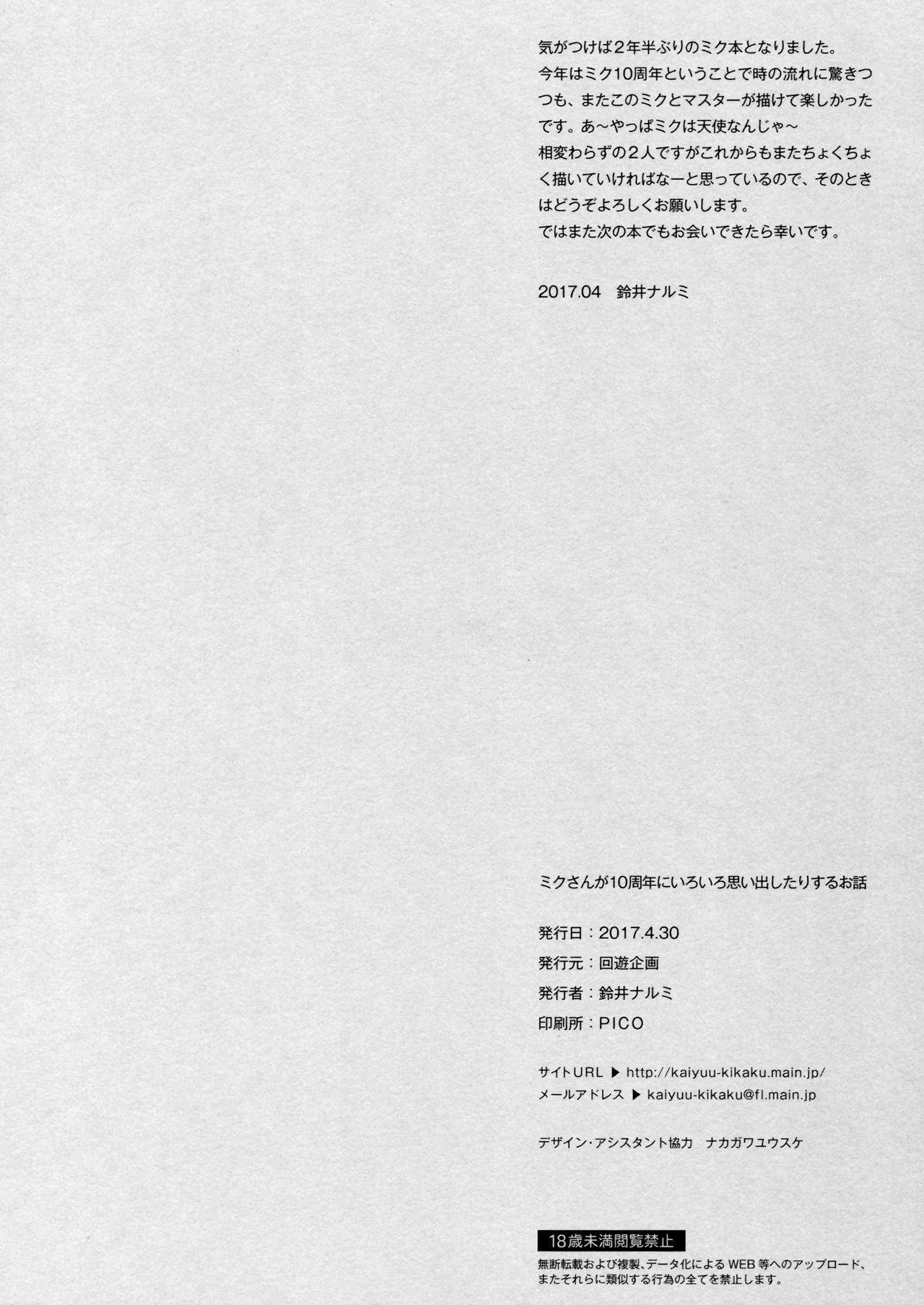 Miku-san ga 10 Shuunen ni Iroiro Omoidashi Tari Suru Ohanashi 23