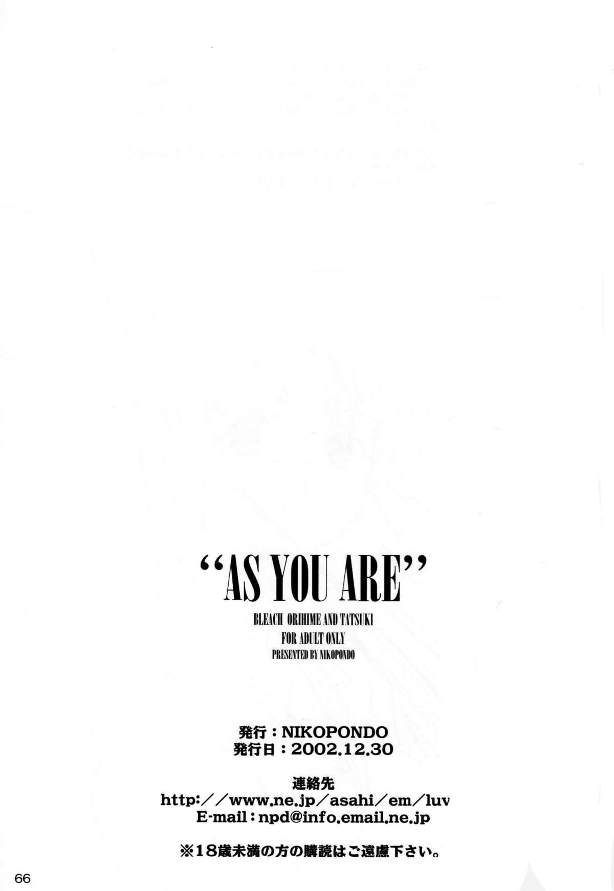 """""""As You Are"""" 64"""