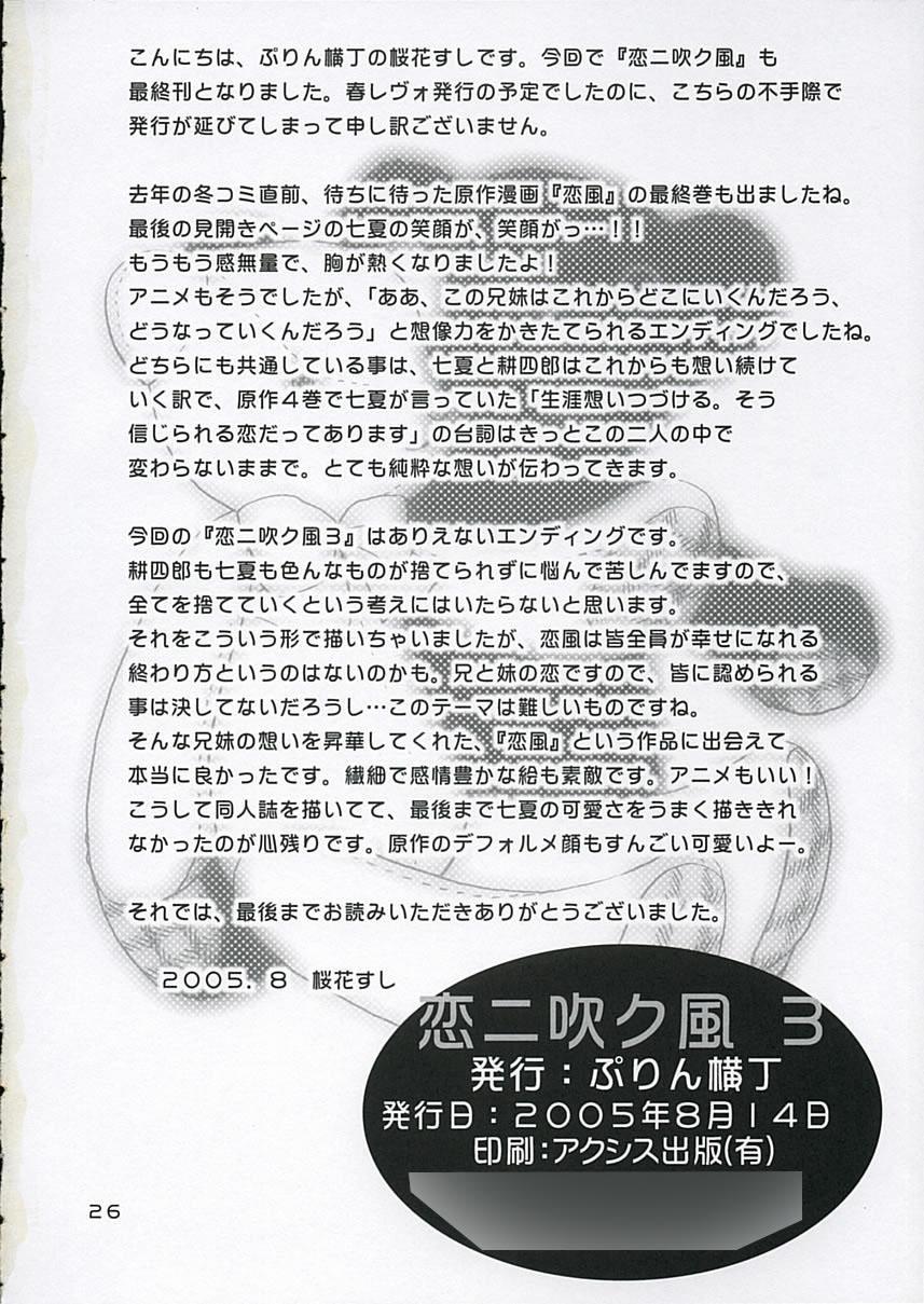 """Koi ni Fuku Kaze 3 """"futari"""" 24"""