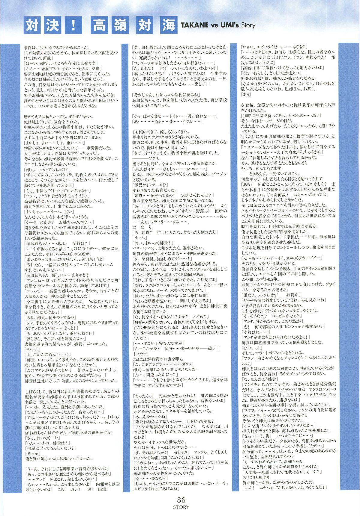 Nee, Chan to Shiyou yo! Koushiki Fanbook - Ai to Batou no Hibi 77